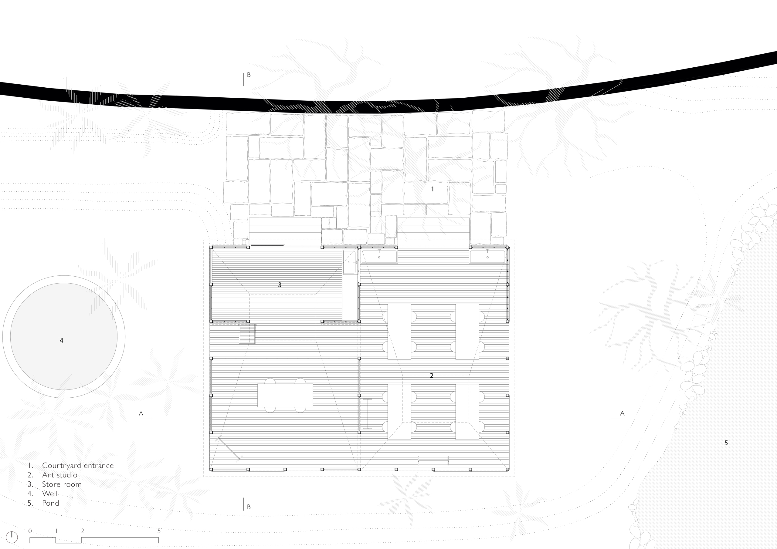 Floor Plan of Artist-Retreat-Alibaug-Maharashtra