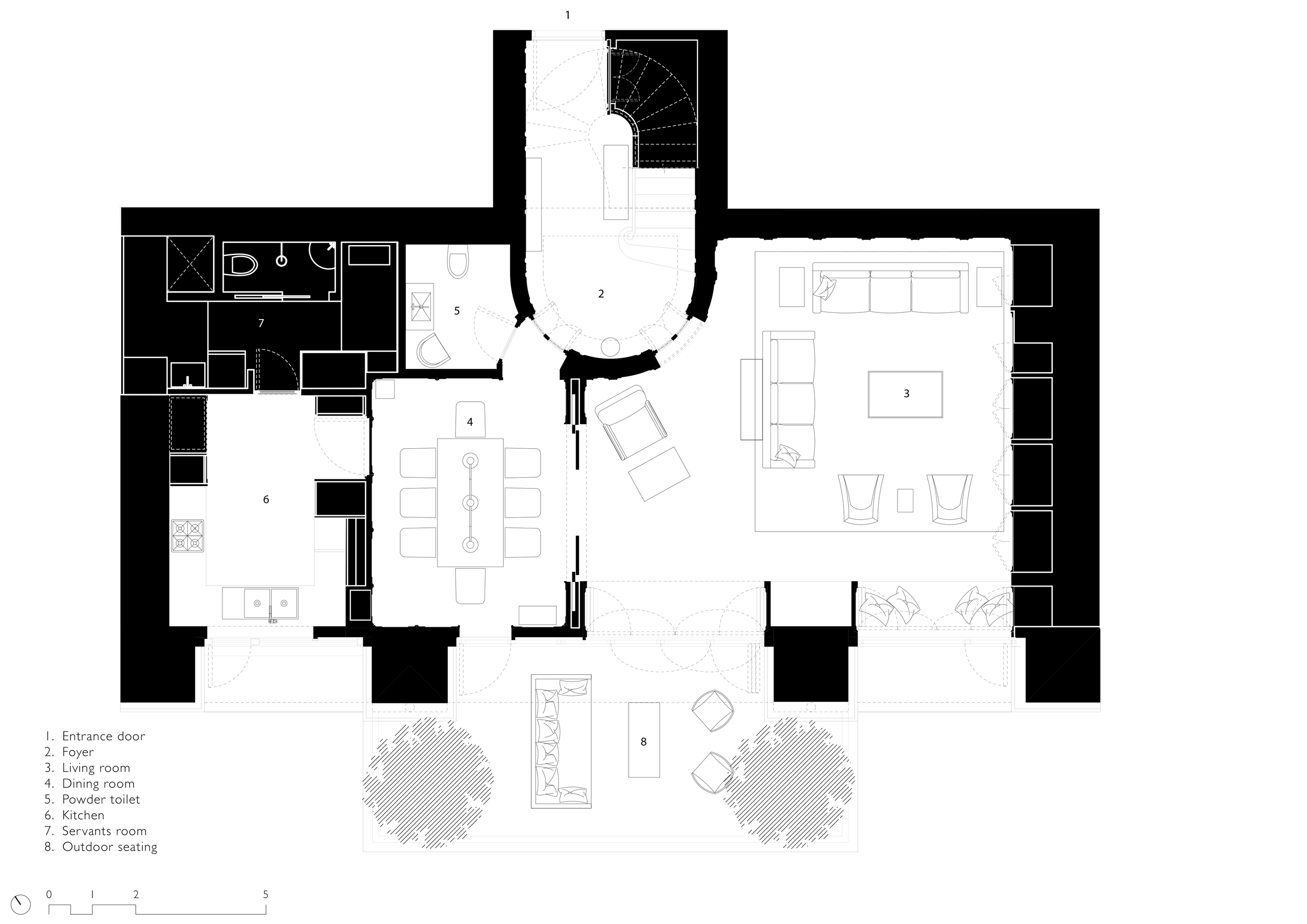 Apartment floor plan in Mumbai