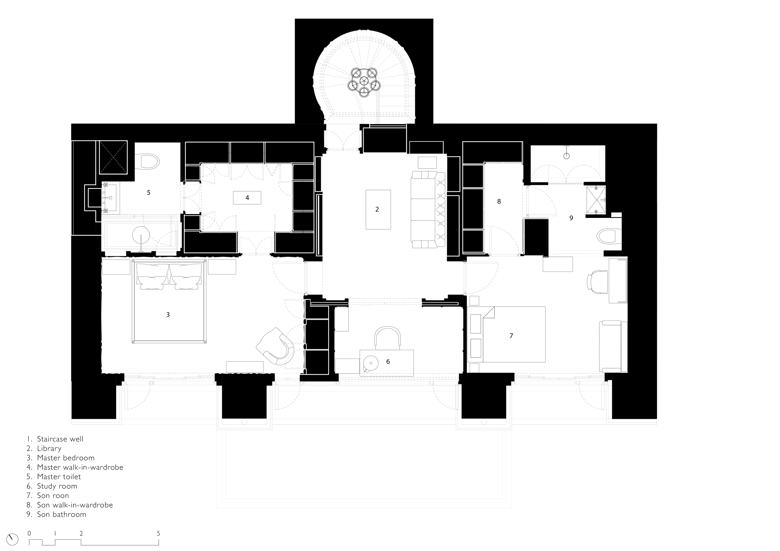 Interior Design of Apartment in Mumbai - floor plan