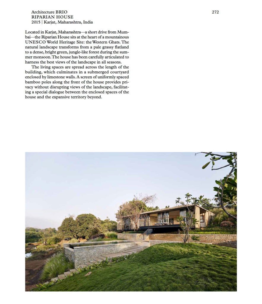Riparian House page from Elemental Living