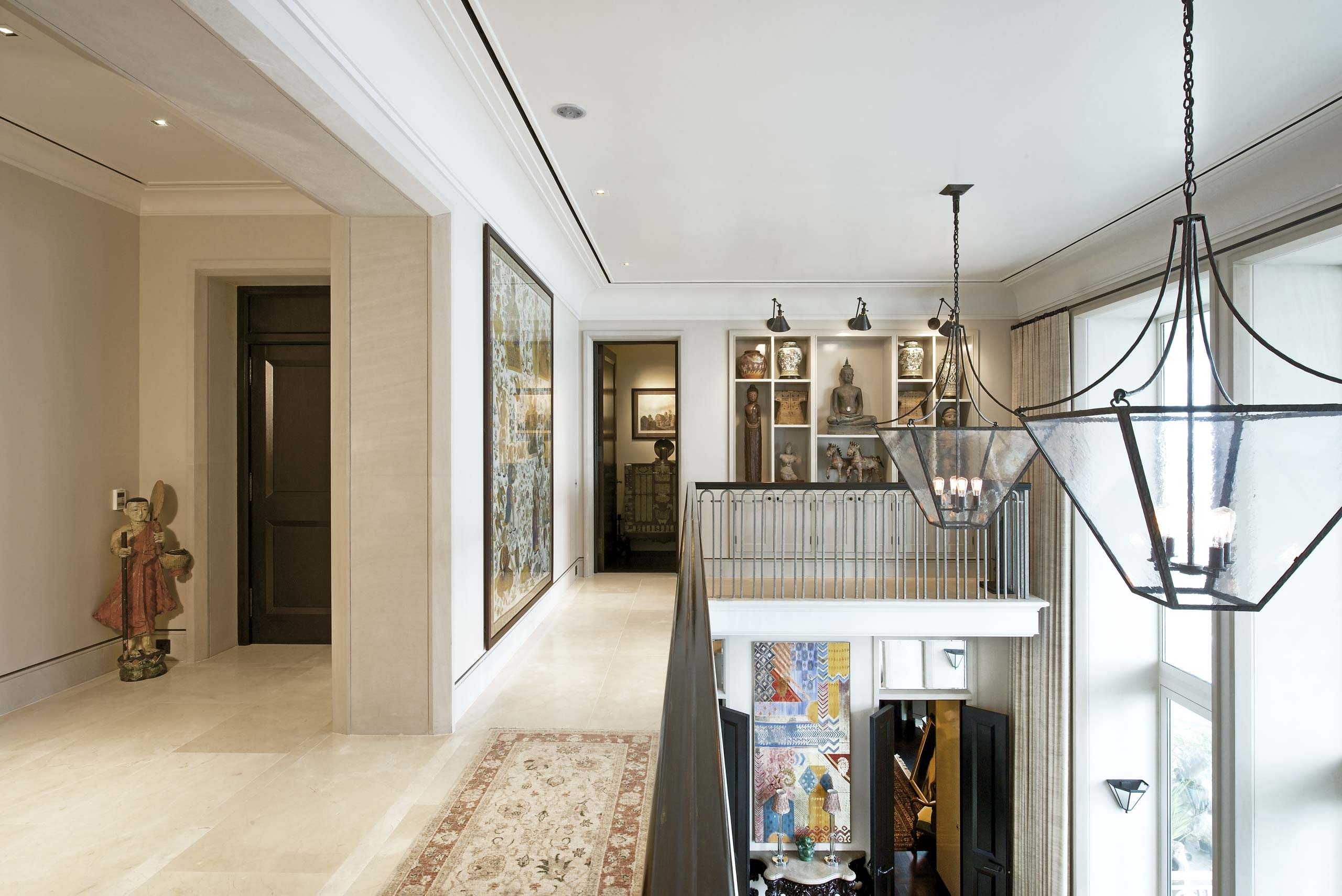 Gallery at duplex apartment in Mumbai