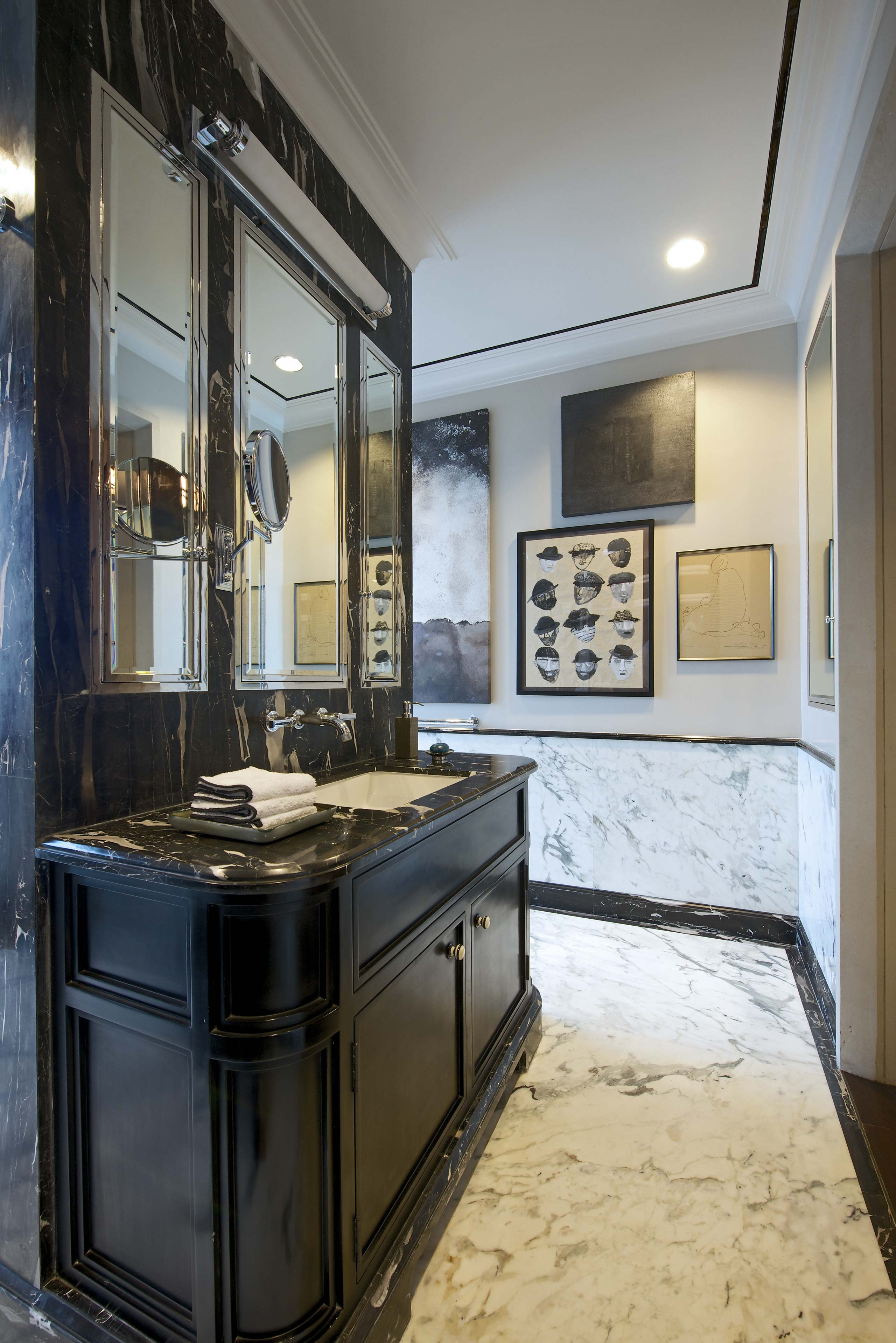 Bathroom vanity at duplex apartment interior design mumbai india
