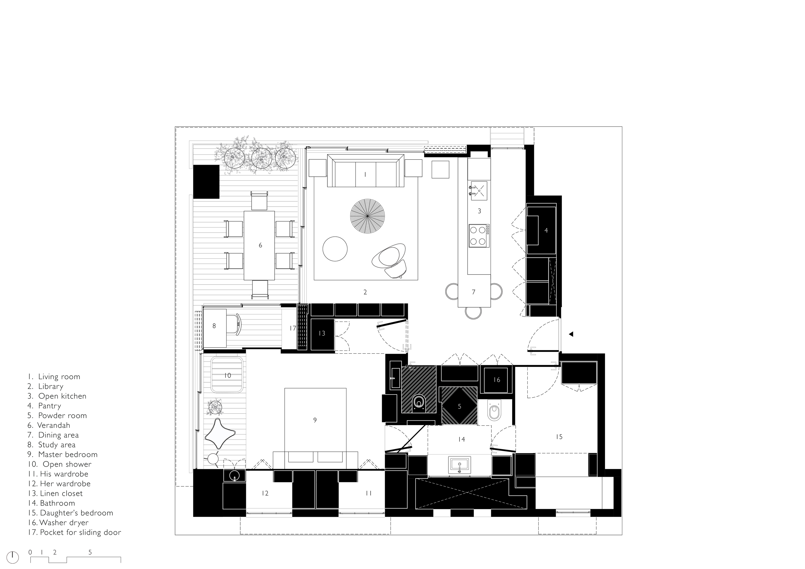 Floor Plan of Apartment in Bandra