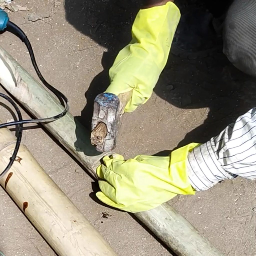 plugging oil treatment of bamboo
