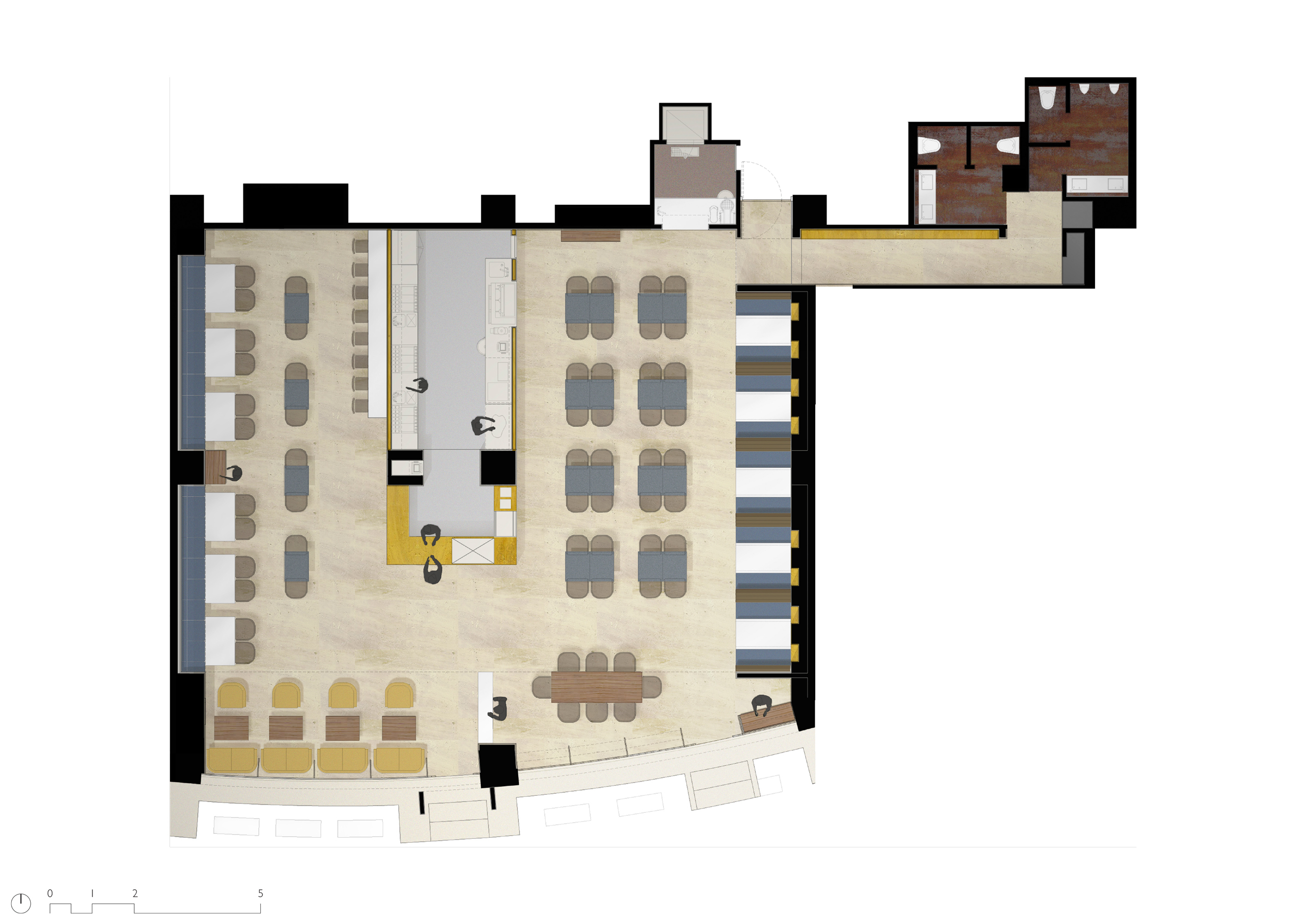 Floor Plan of Restaurant BKC Mumbai
