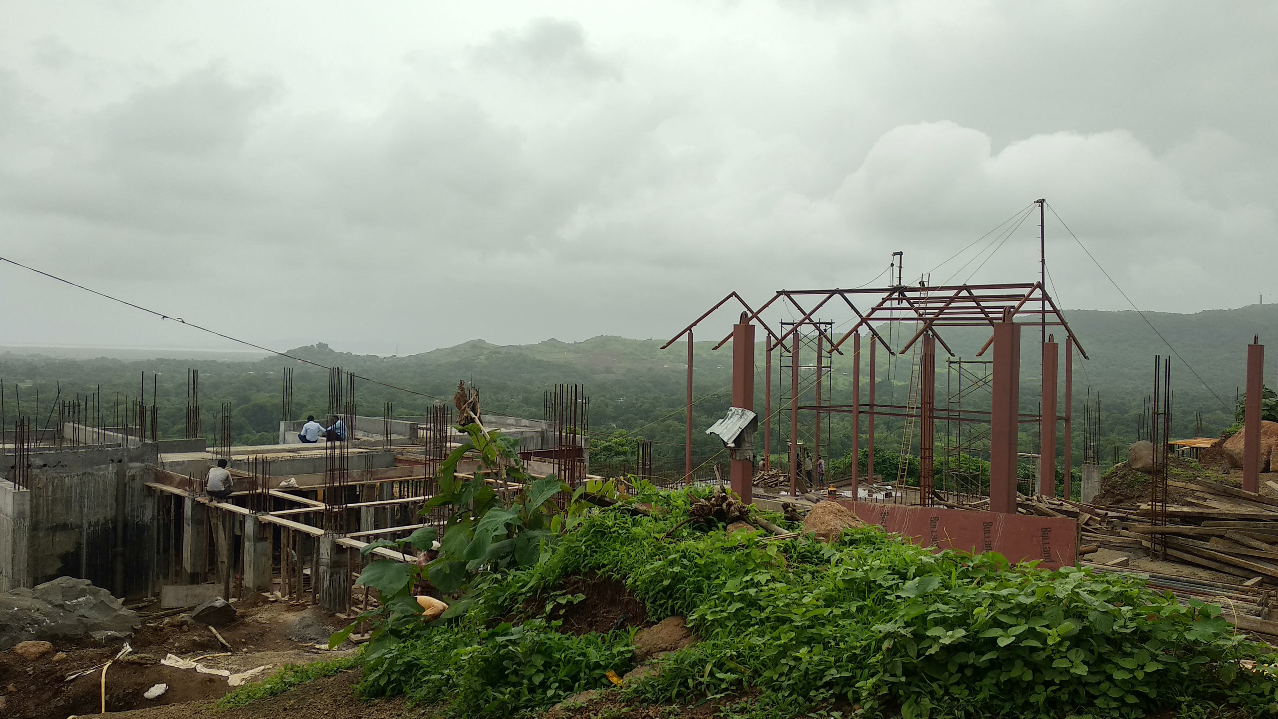 The Plantation Retreat under construction in alibaug