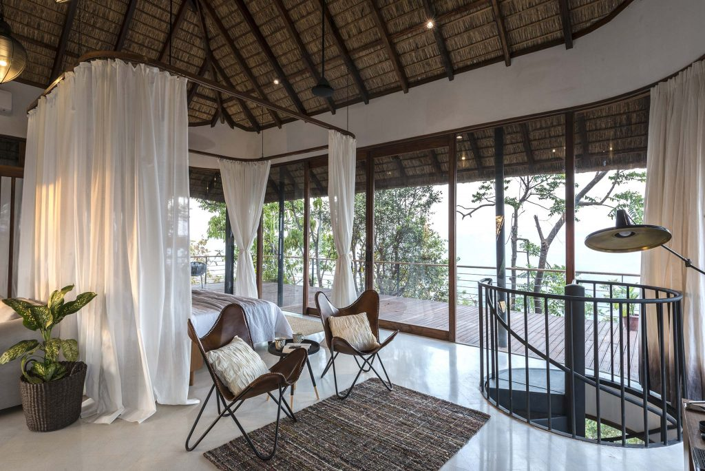 thatch roof at tala treehouse villa alibaug india - AD50 - Influential Architects in India