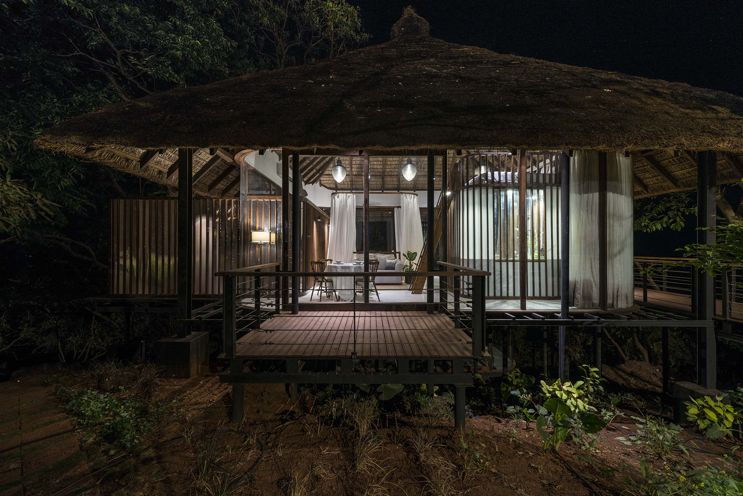 Tala Treehouse Villa at Night