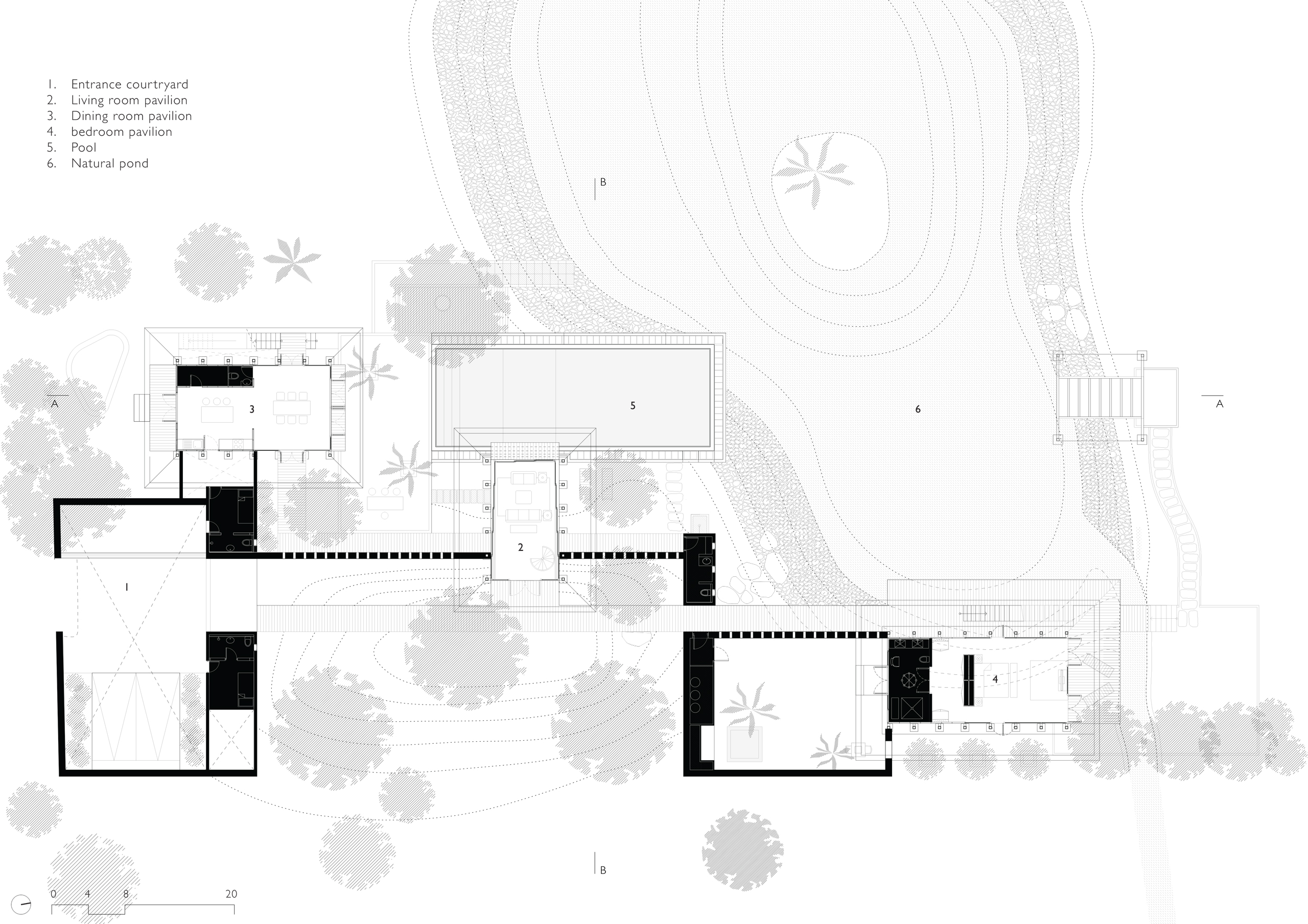 Floor Plan of Waikiki Wetland Resort, India