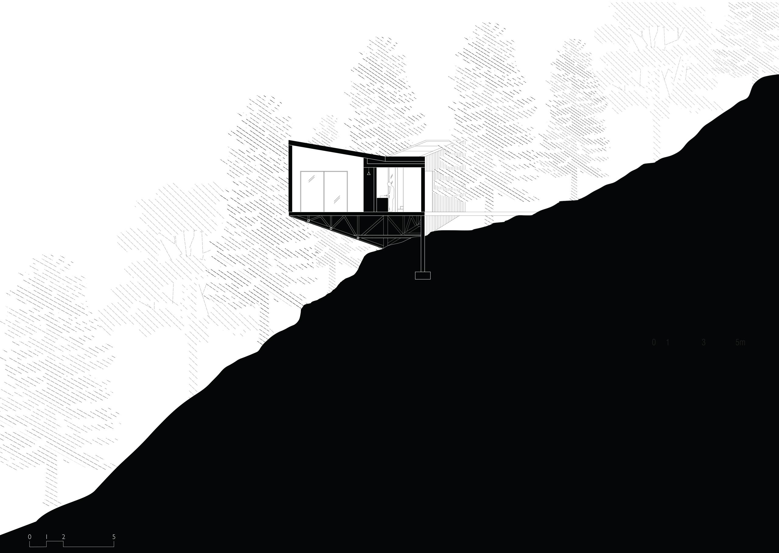 Mountain Cabin - Himalayas - Section