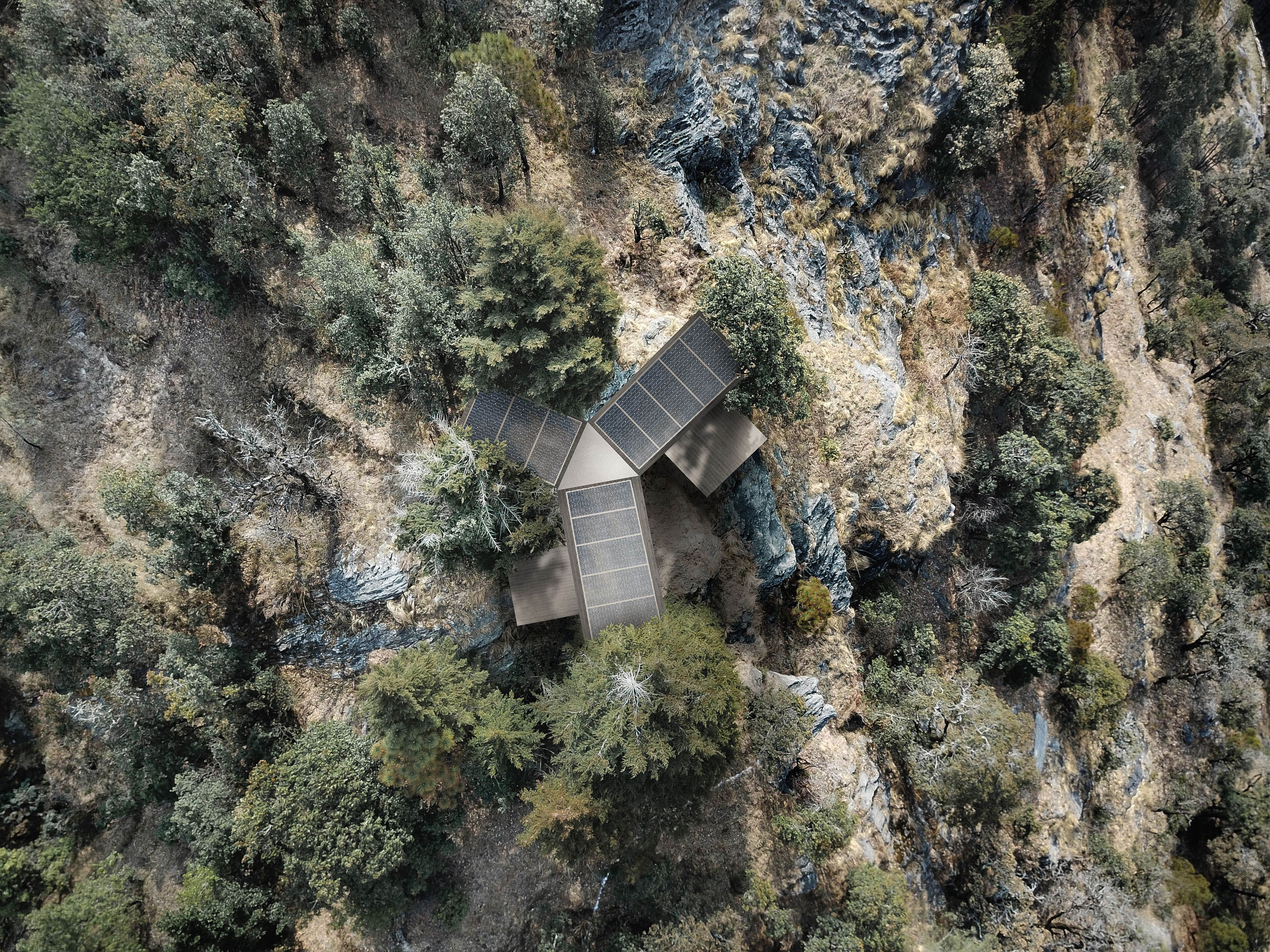 Roofscape Himalayan cabin