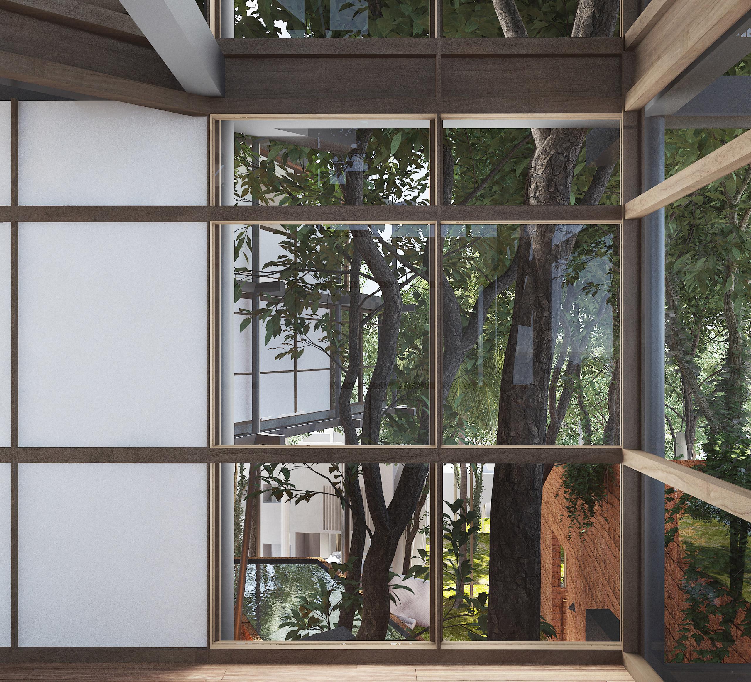 Socorro Goa India Canopy Villa window