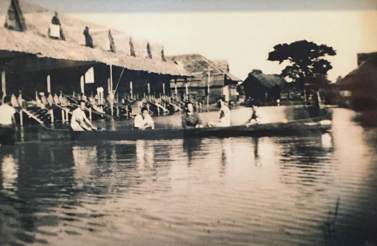 Beaufort Temporary Atap Shops Flooded 29 September 1949