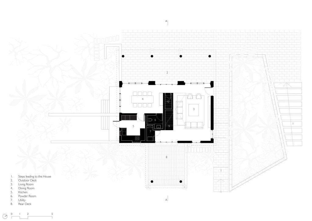 House in a Beach Garden - Ground Floor plan
