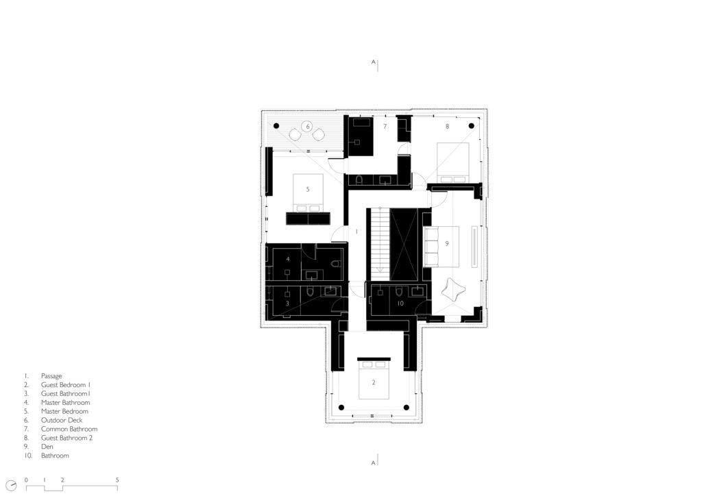 House in a Beach Garden - First Floor plan