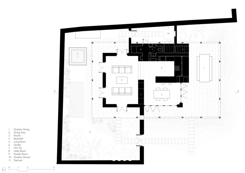House in the Palms Ground floor plan