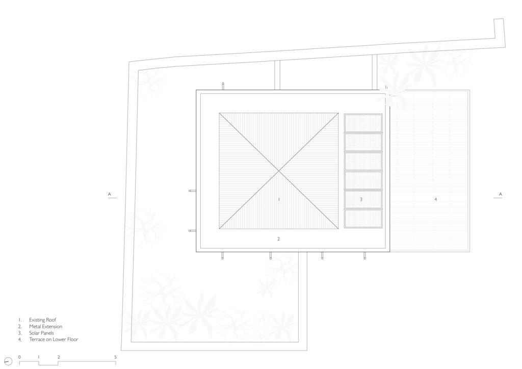 Beach House in Alibag roof plan