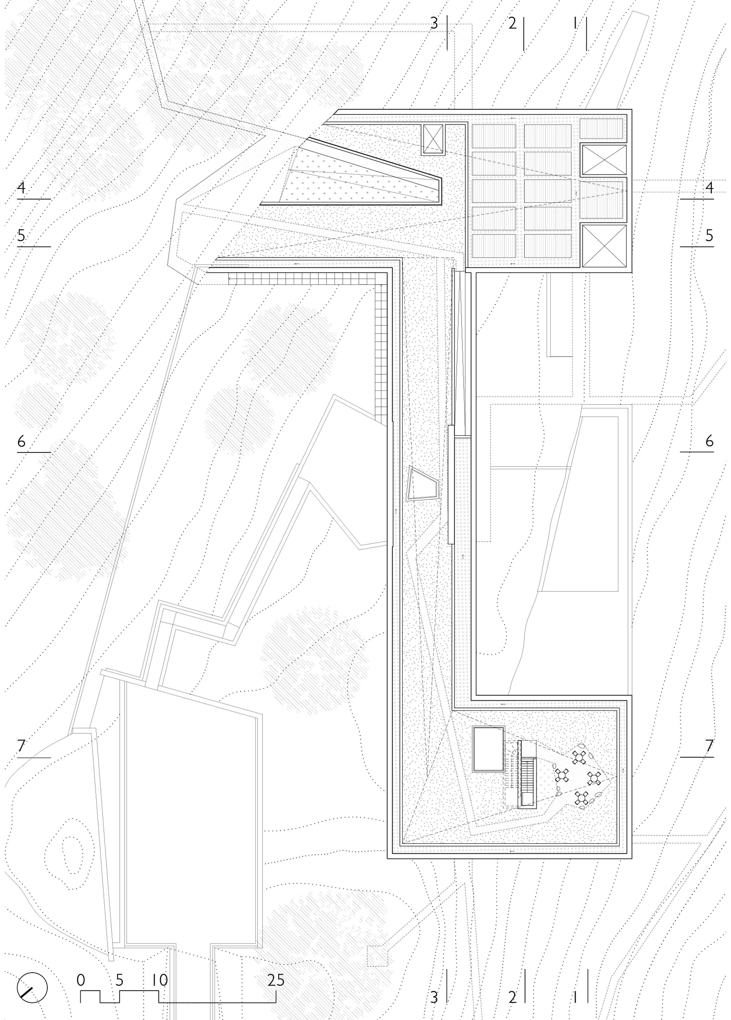 biodiversity training institute roof plan