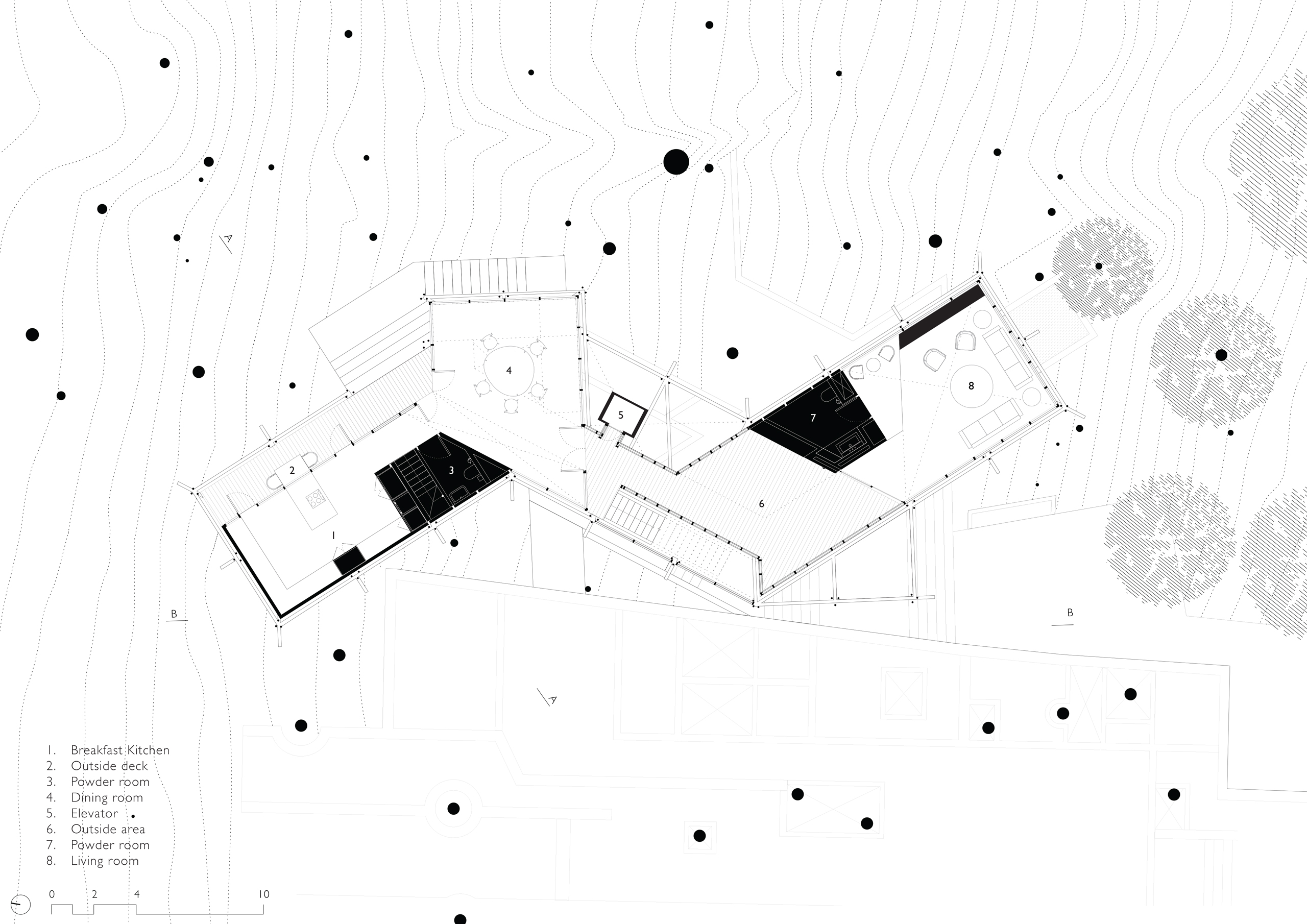 Floor Plan Level 1 - Canopy Villa Goa