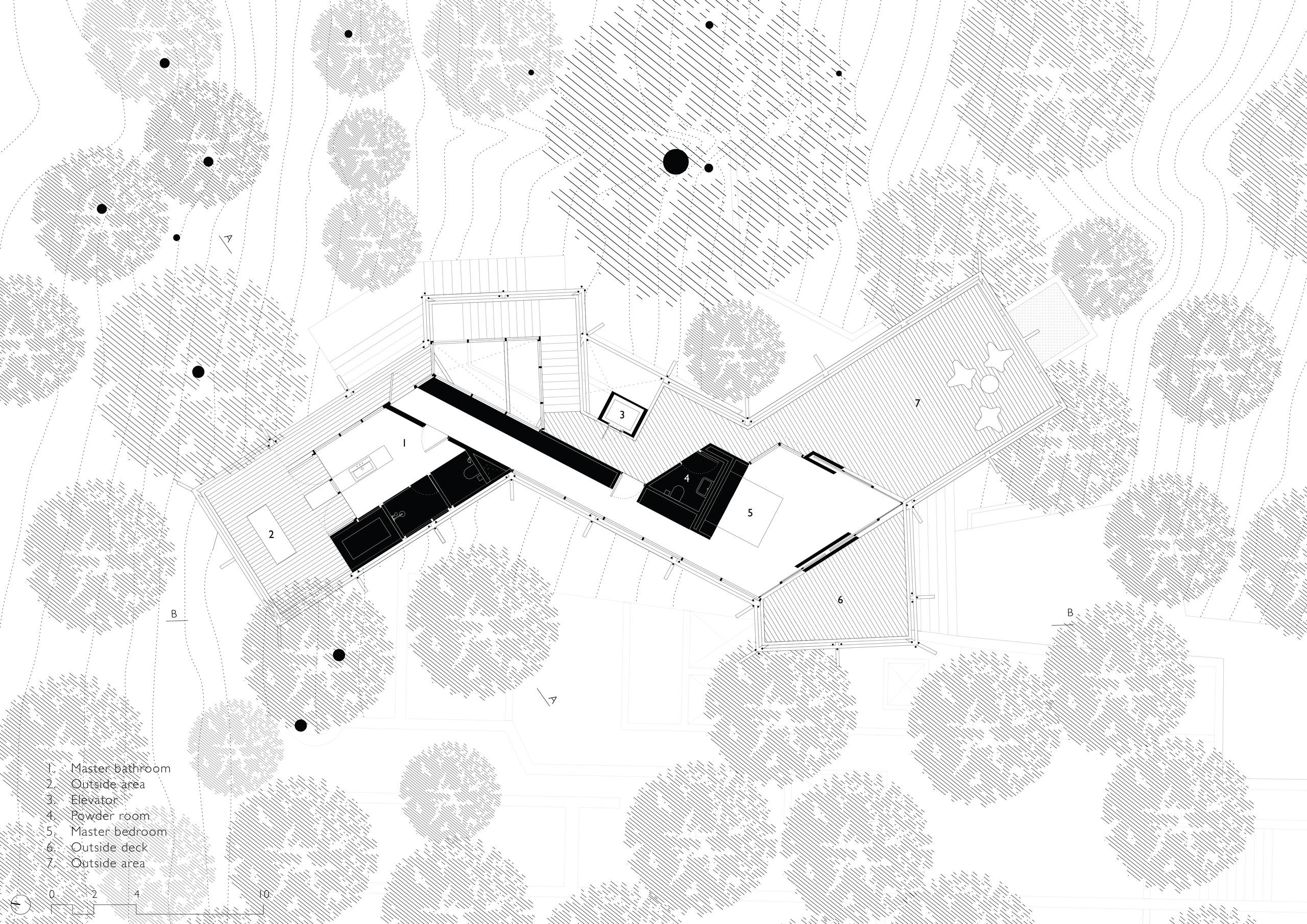 Floor Plan Top Level - Canopy Villa Goa