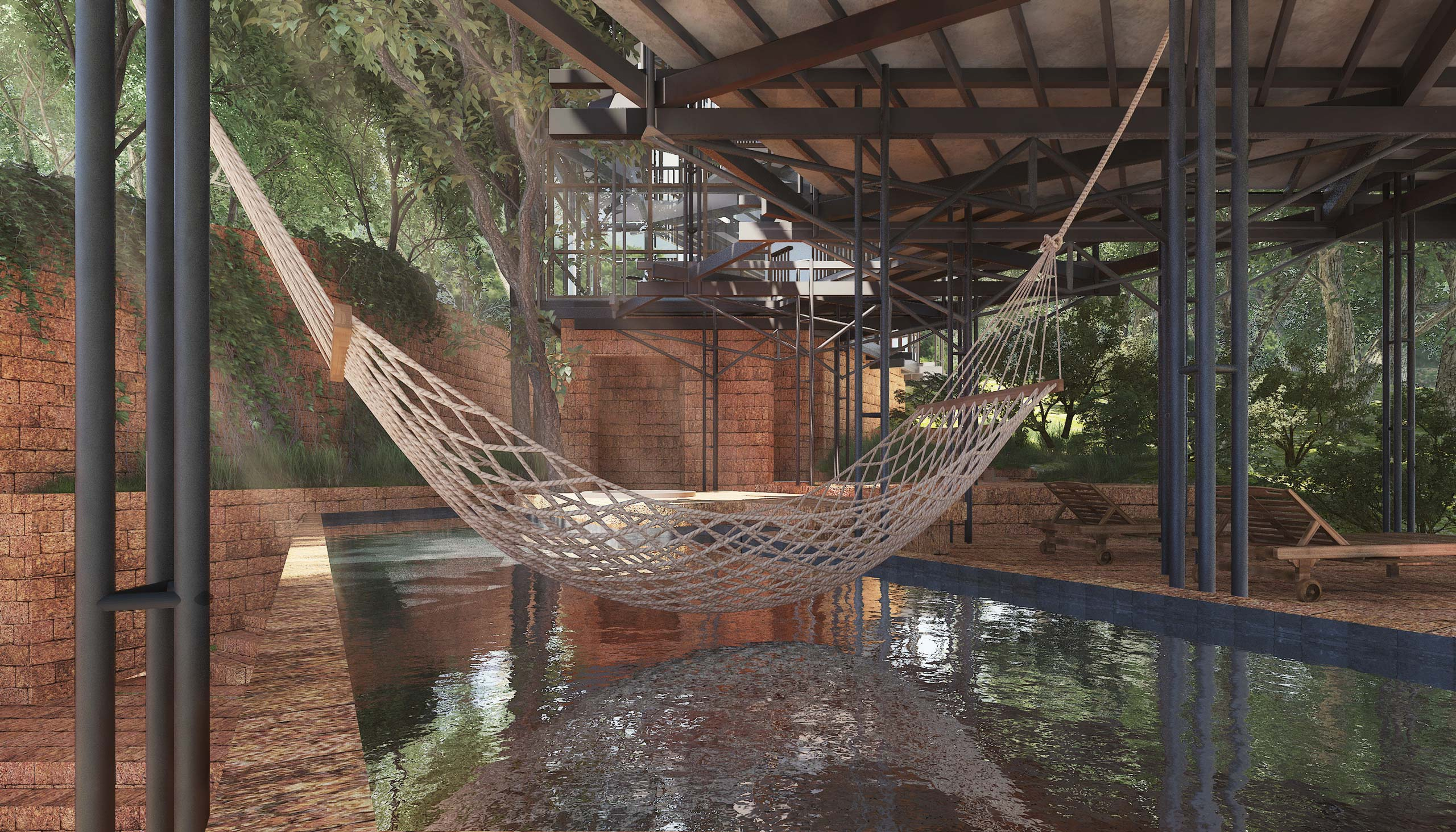 Swimming pool hammock Socorro Villa-Goa