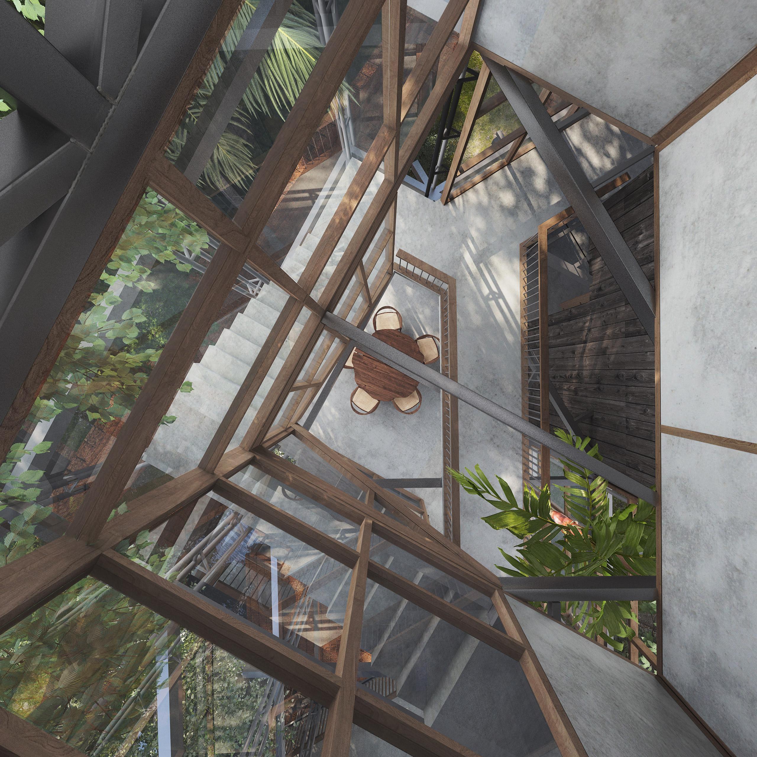 Staircase-Socorro Villa-Goa