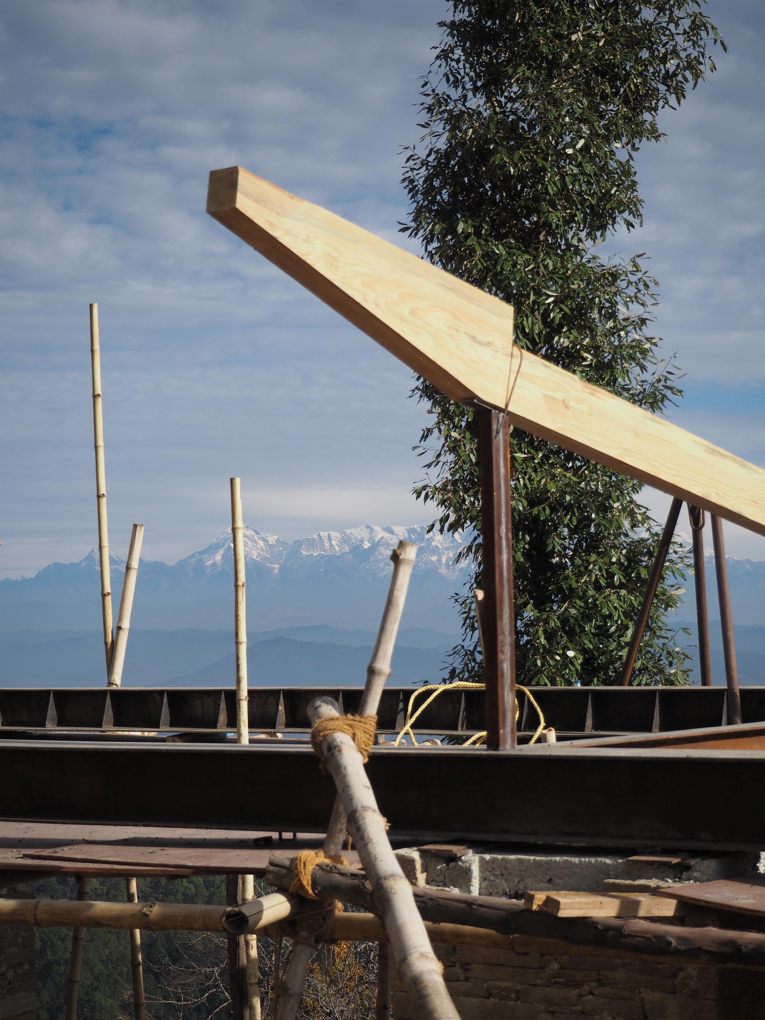 sample of pine beam mountain home Uttarakhand