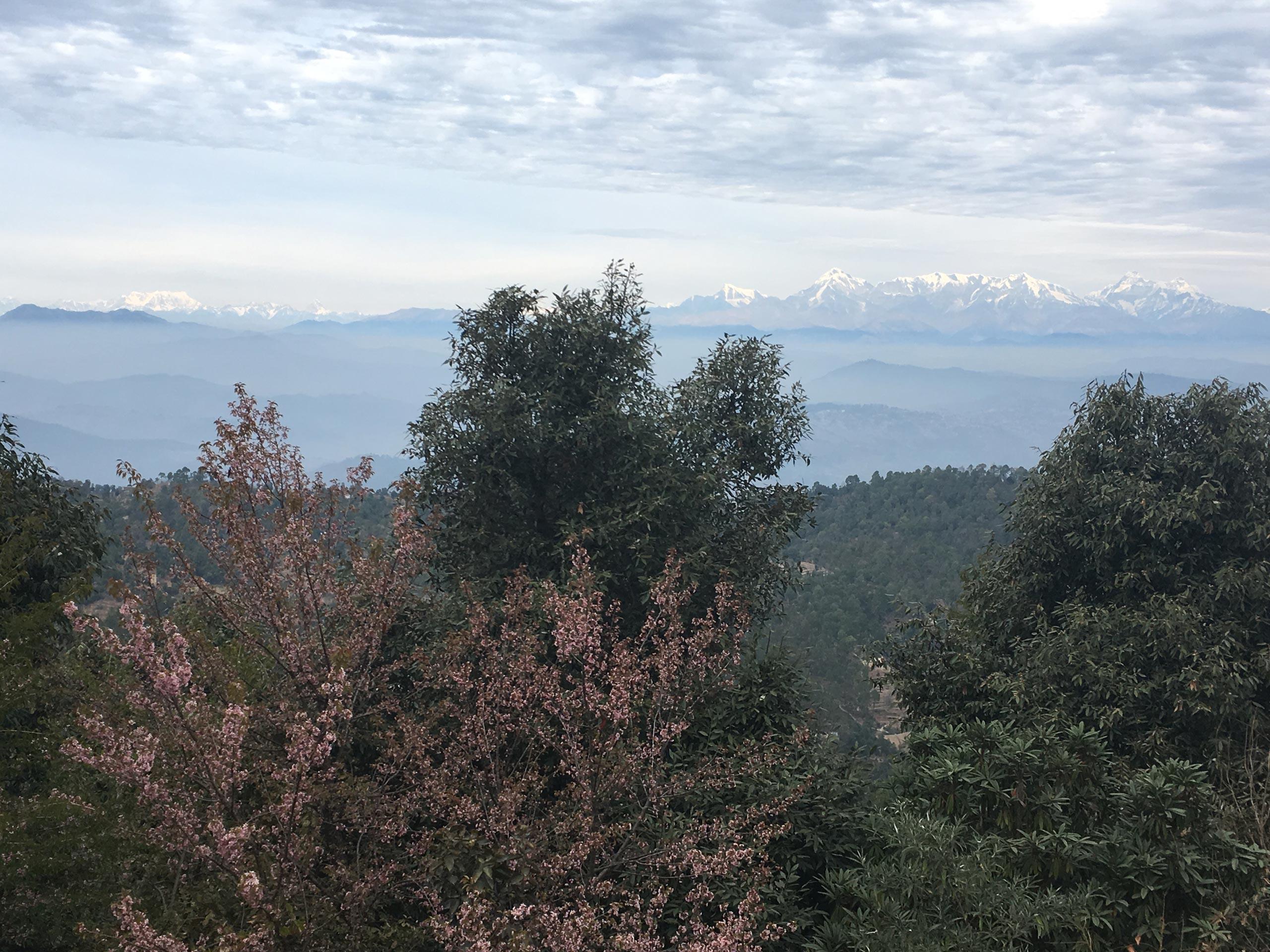 Mountain home Nanda Devi view Uttarakhand