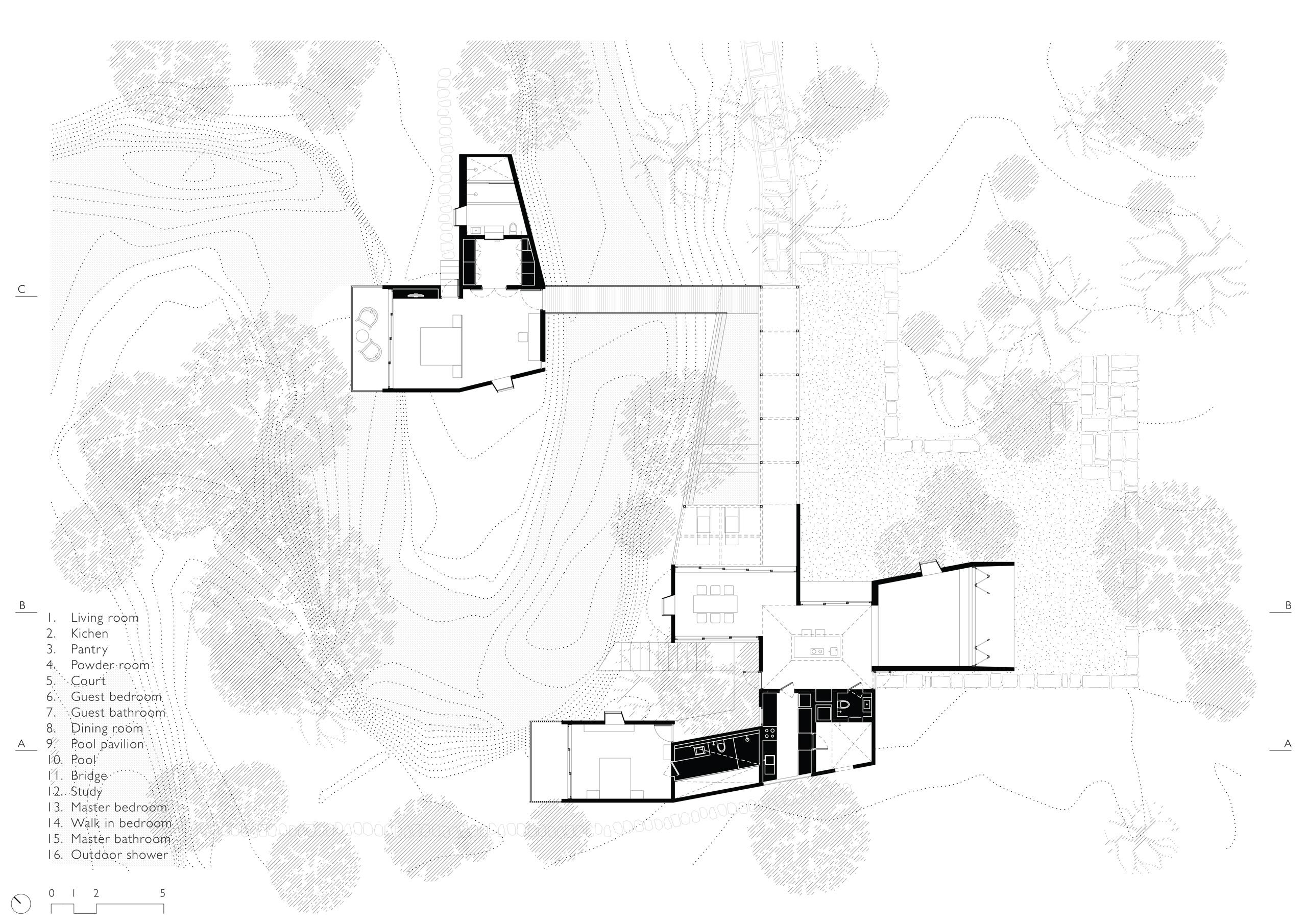 Floor plan of House on a STream in Alibag