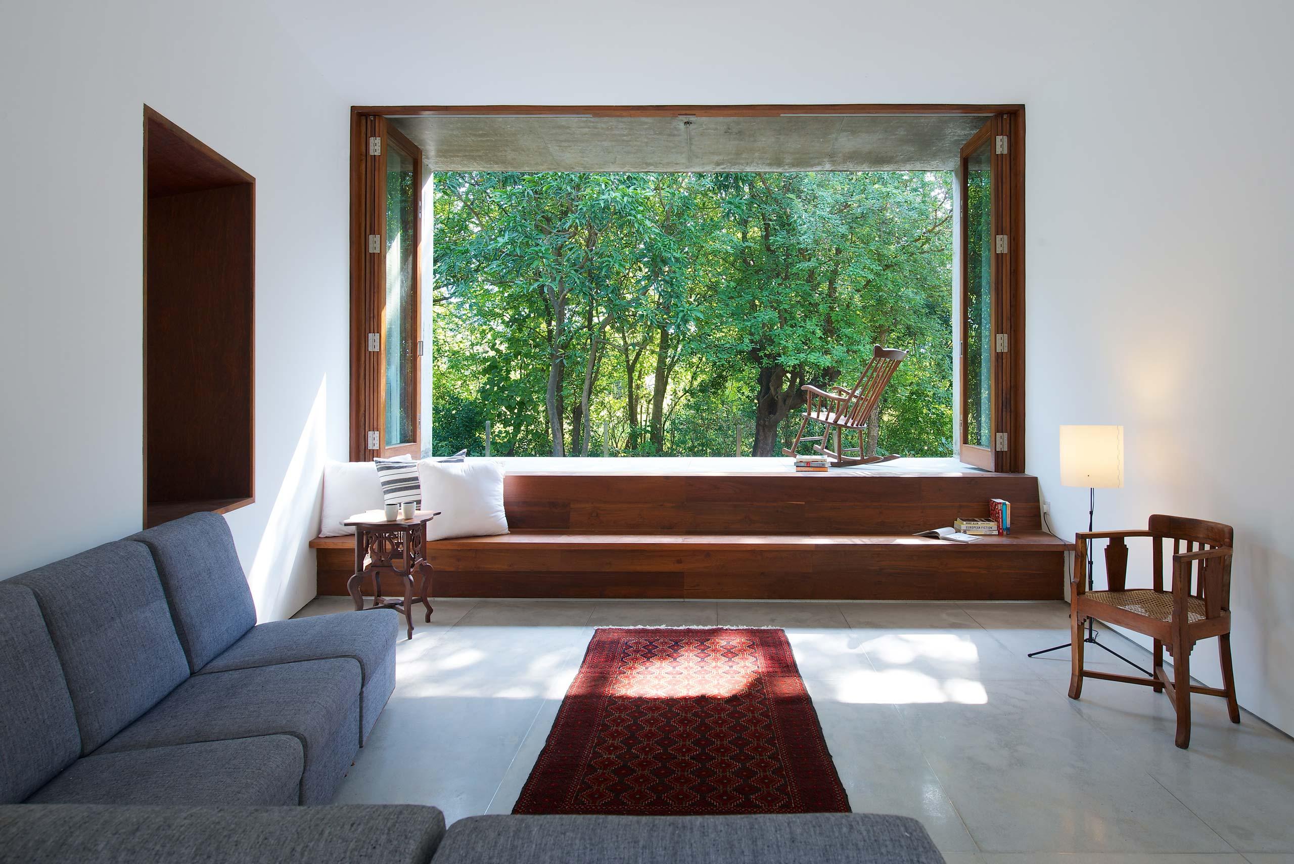 elevated balcony living room Alibaug india