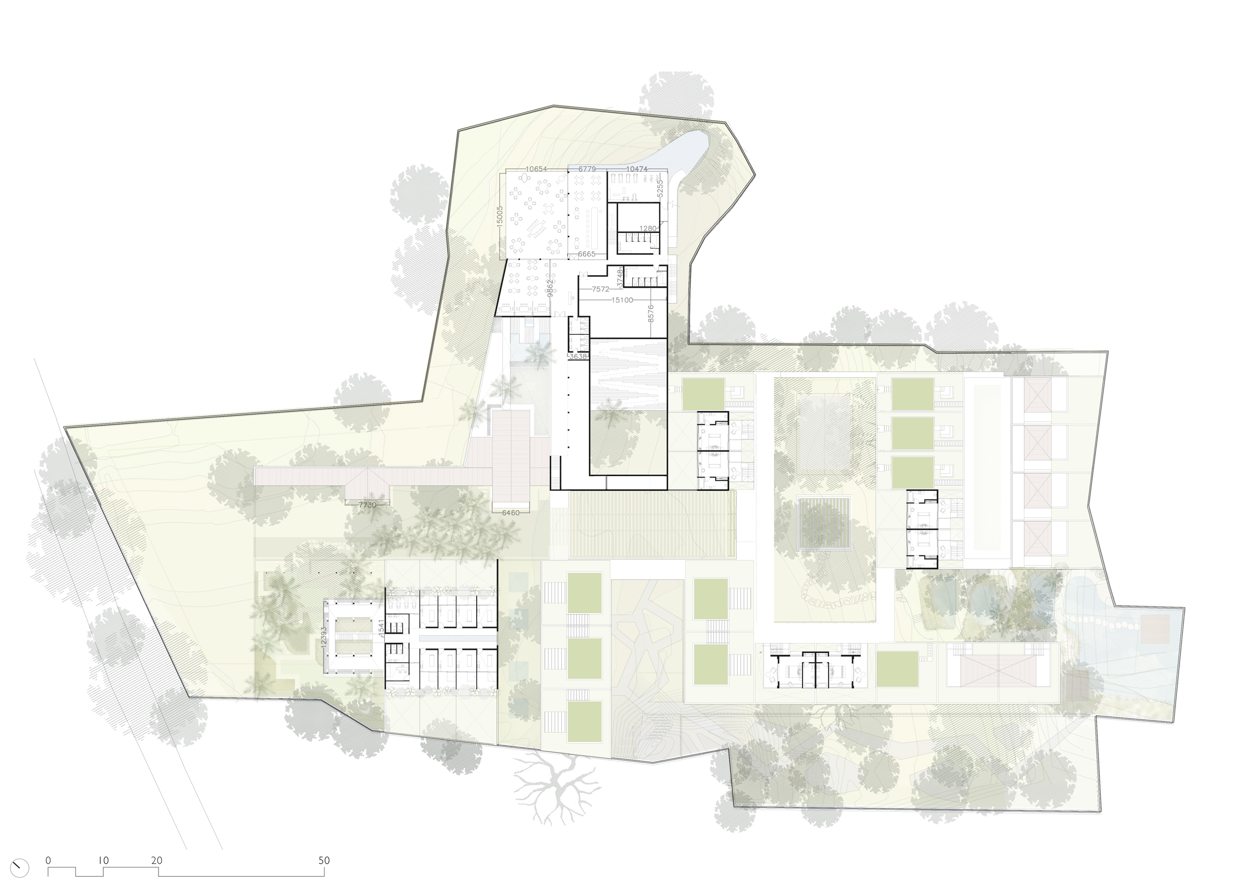 Floor Plan of Mandwa Wellness Resort