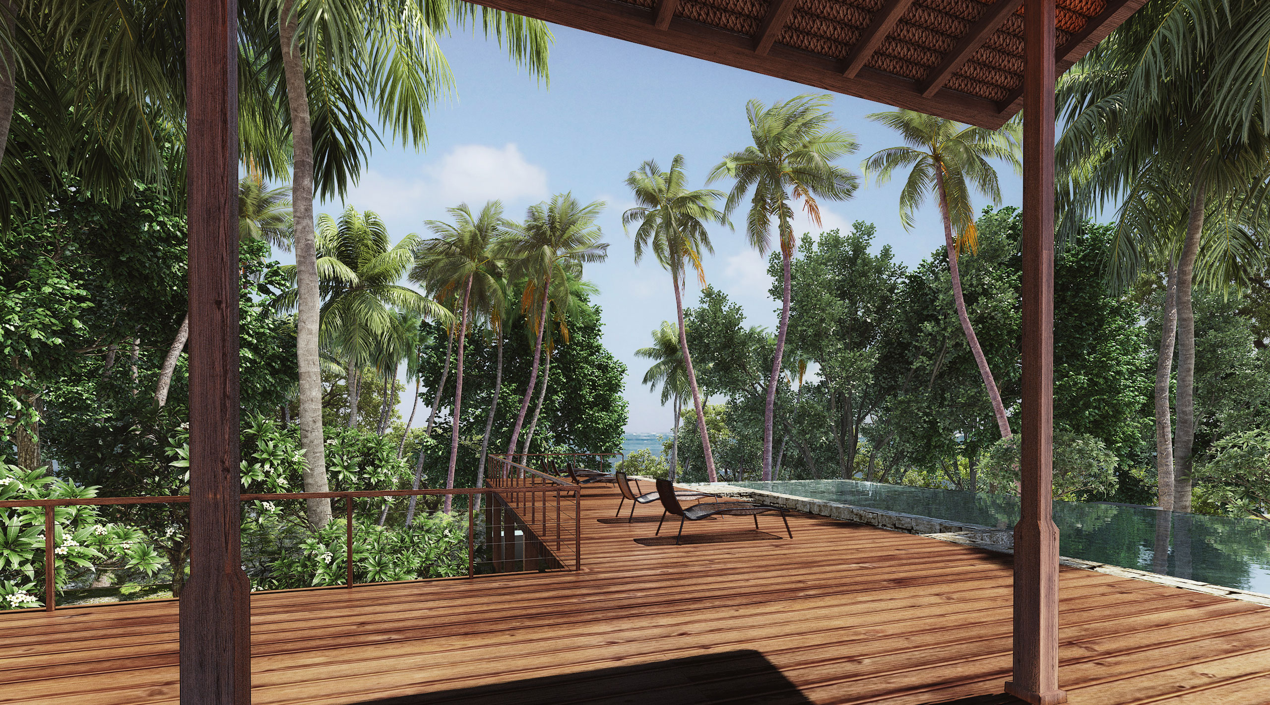 Mandwa Resort - pool deck