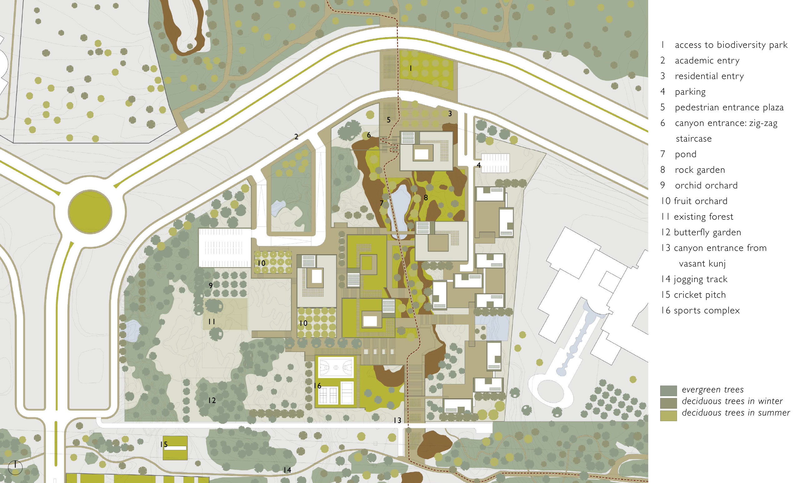 spa delhi competition design masterplan school design