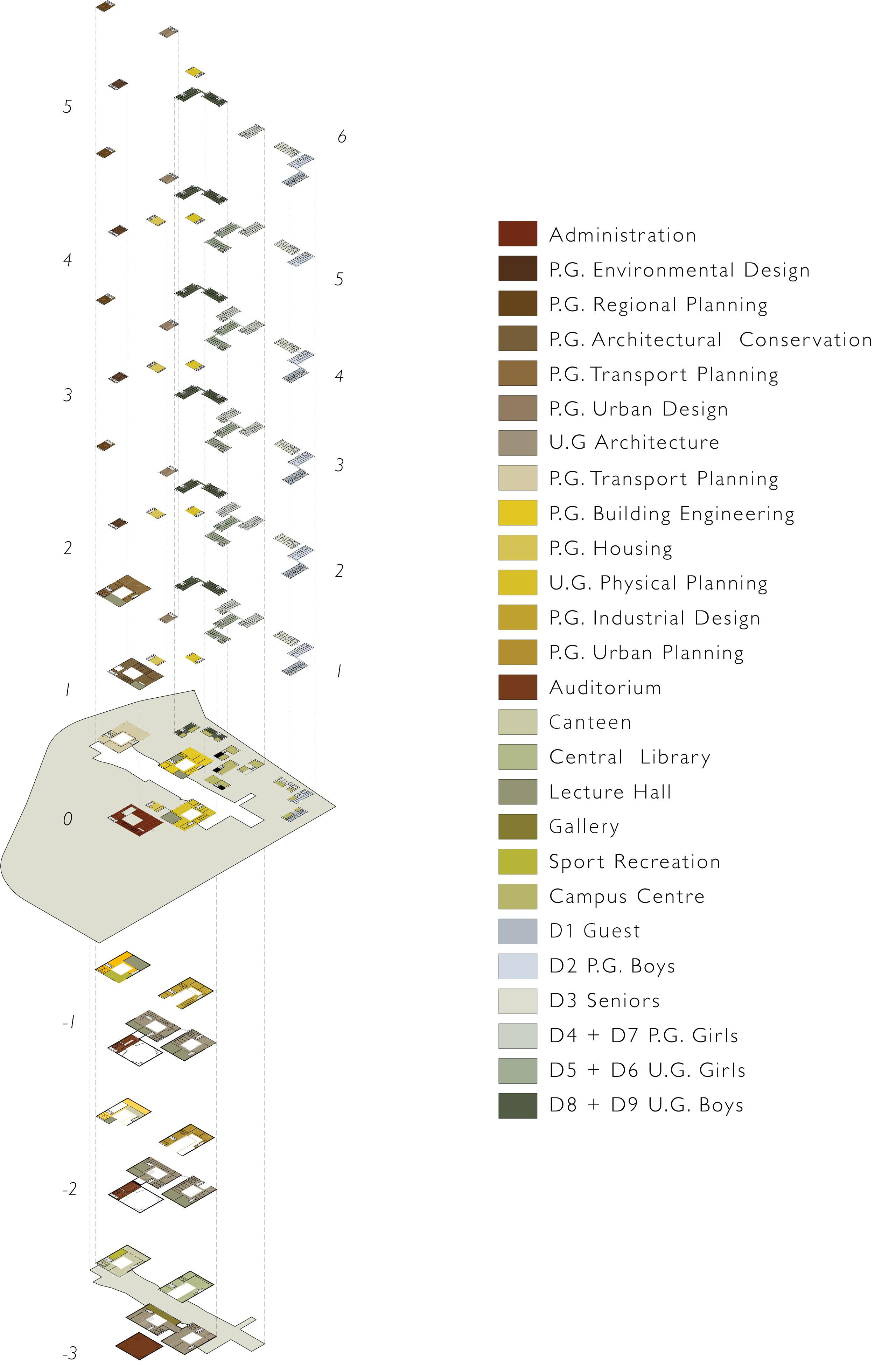 spa delhi competition design programmatic layout school design