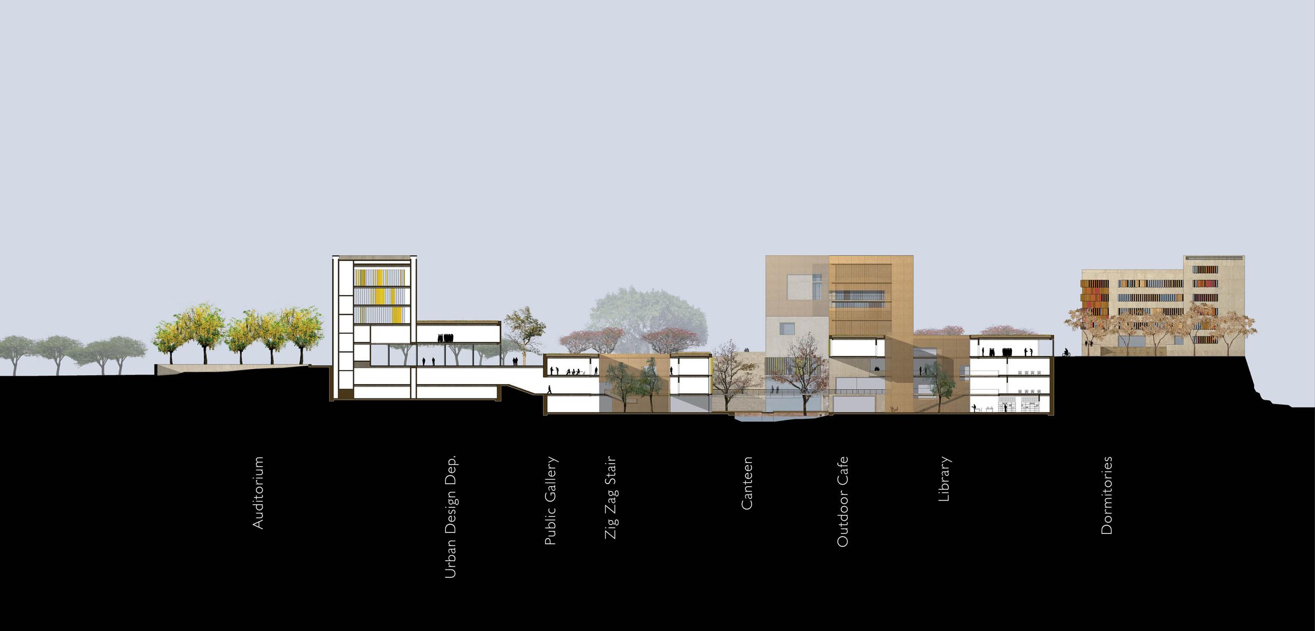 spa delhi competition design section school design