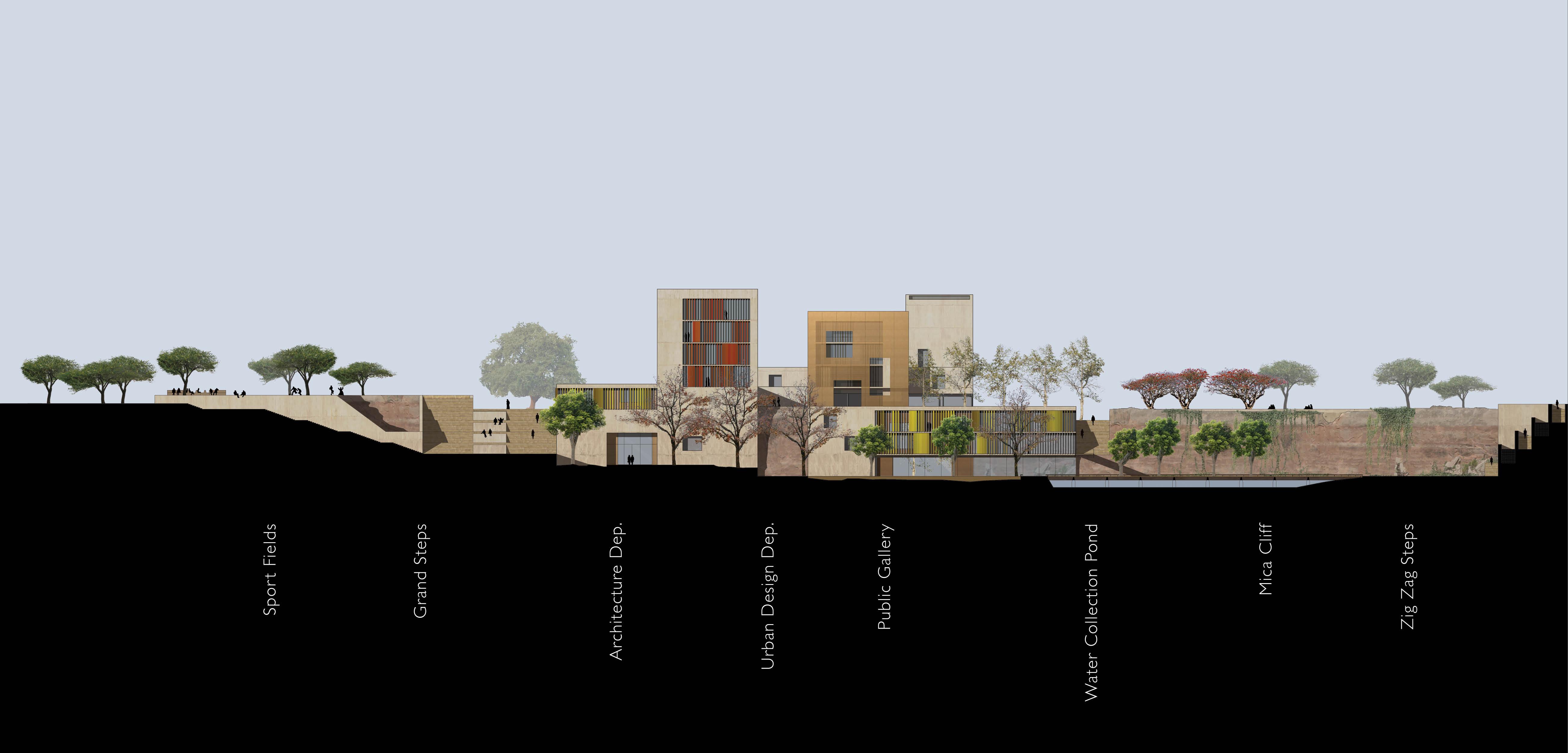 spa delhi competition design elevation school design
