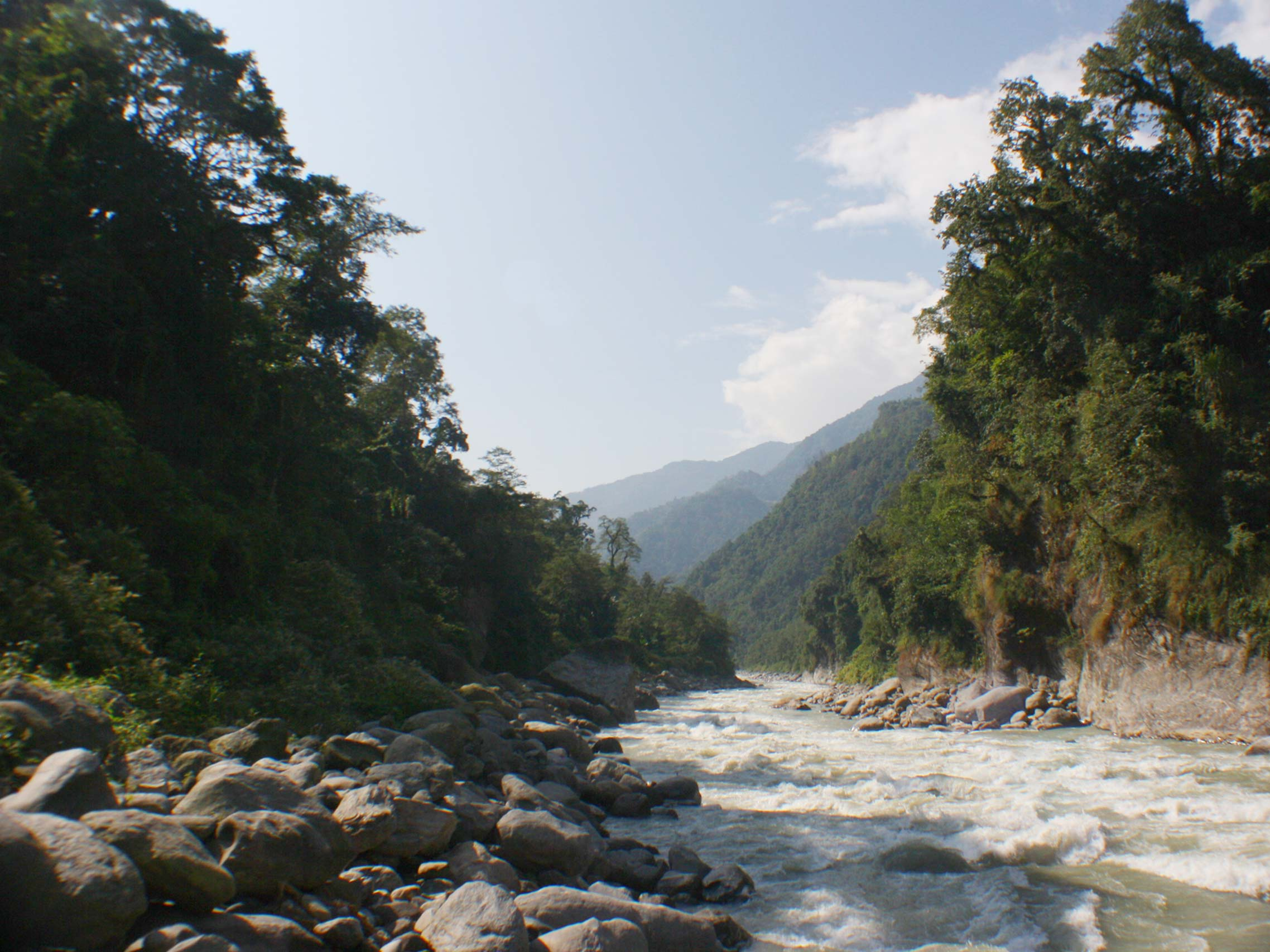 Teesta River at Sikkim Butterfly Reserve