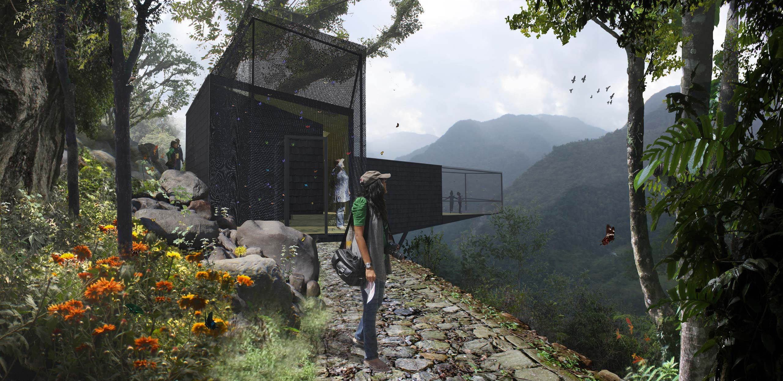 Interpretation Centre and Butterfly Enclosure at Sikkim Butterfly Reserve