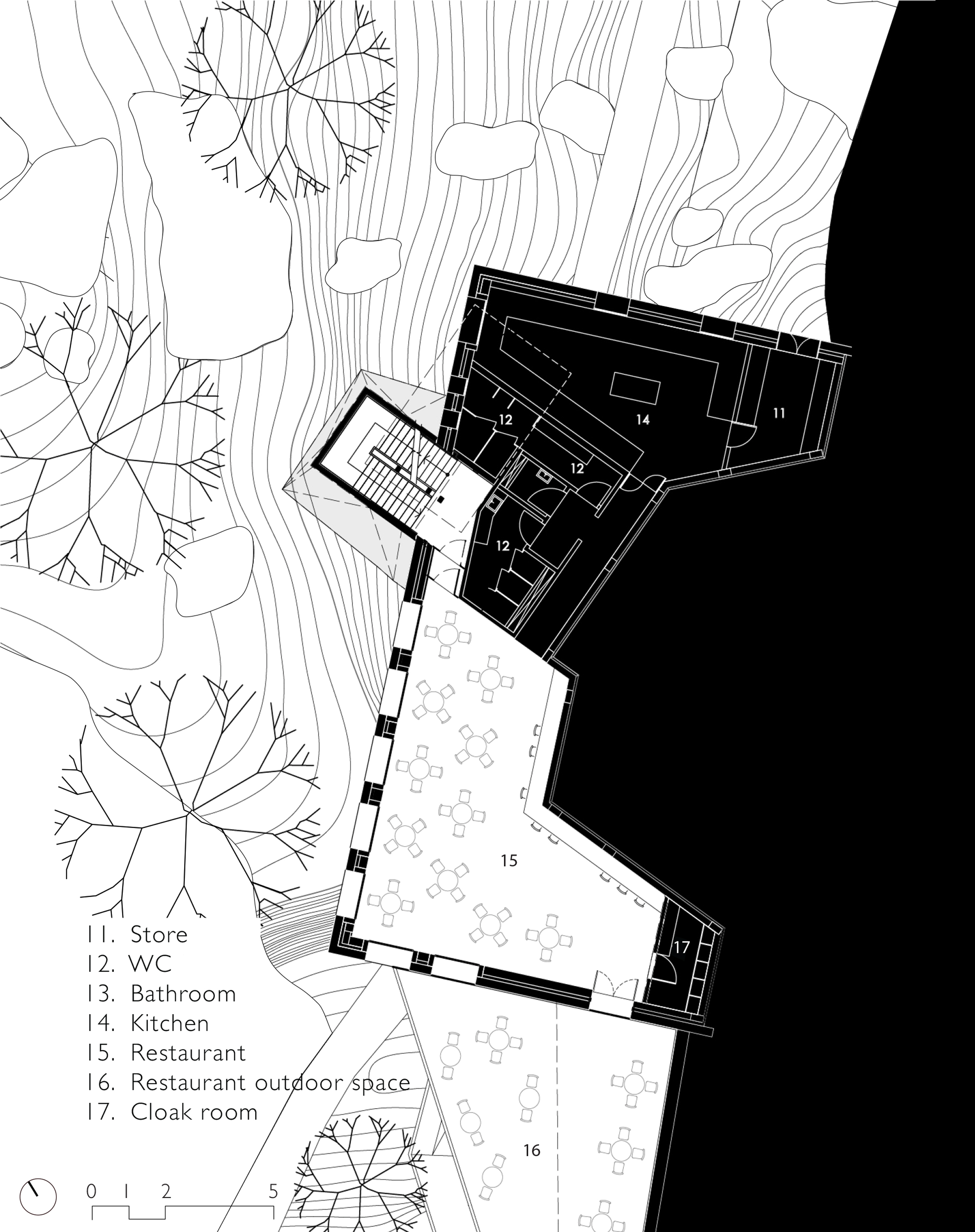 Floor plan of Butterfly Reserve Observation Tower, Sikkim