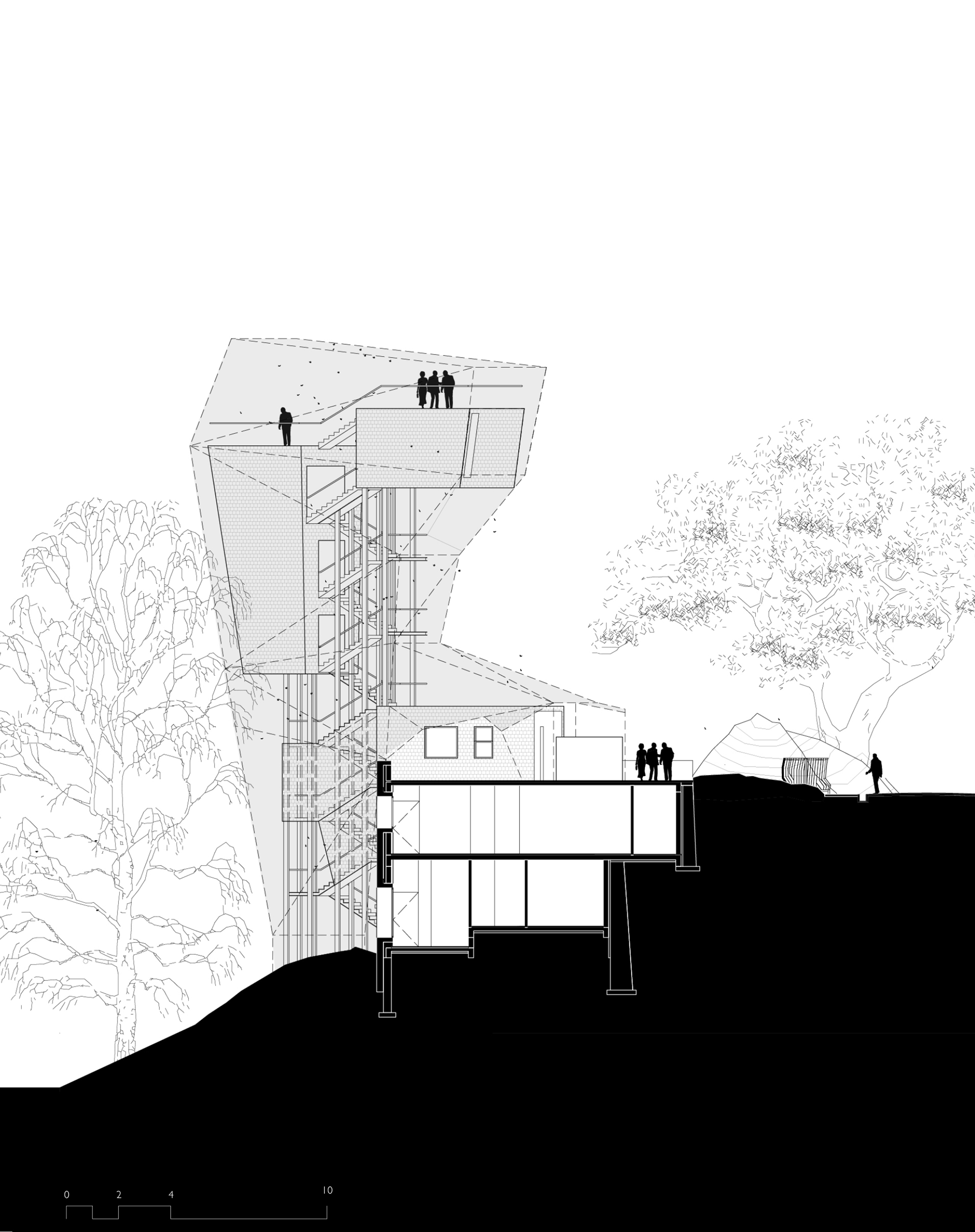 Section of Butterfly Reserve Observation Tower