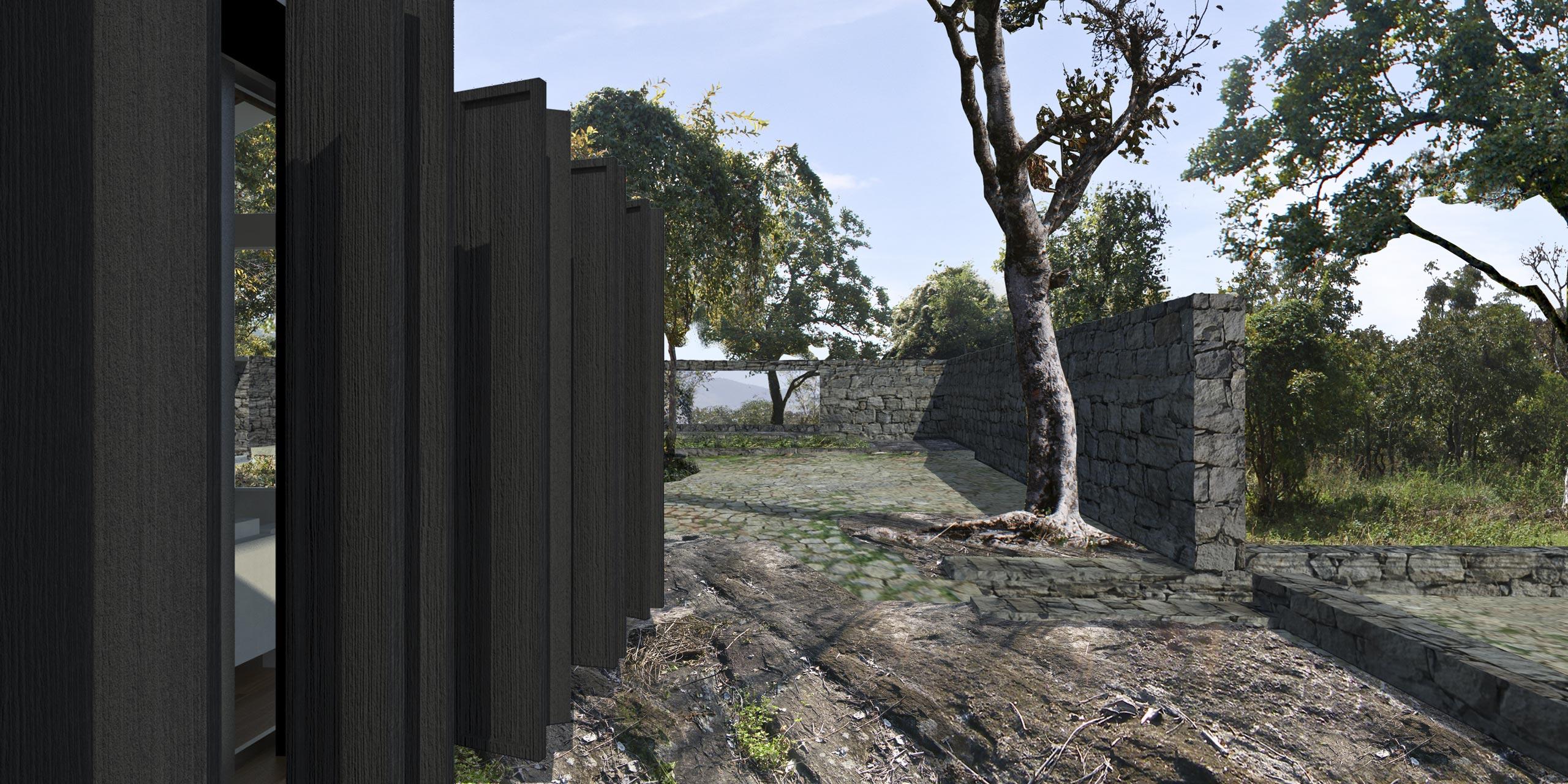 Forest Home Temenos Courtyard