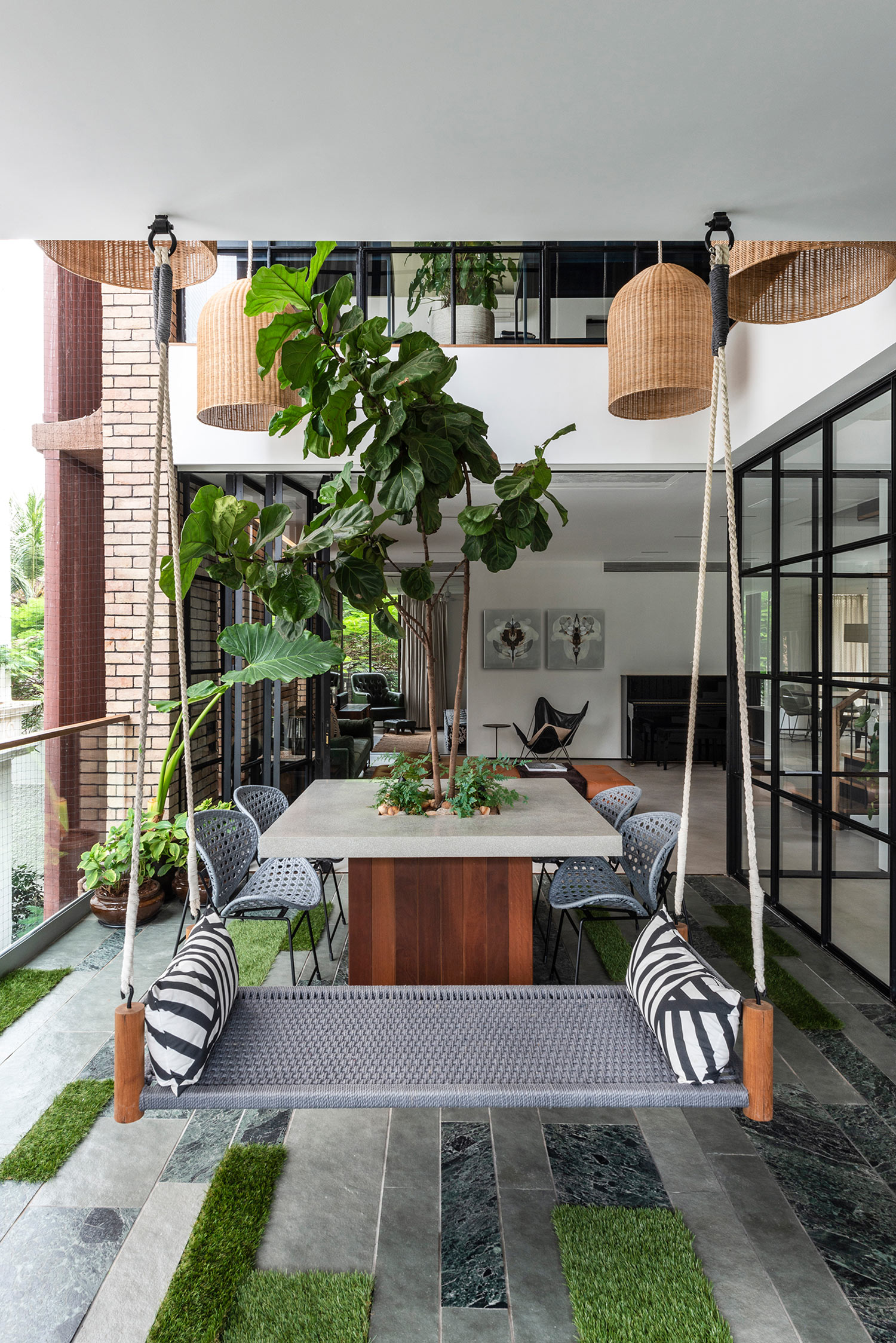 double height courtyard