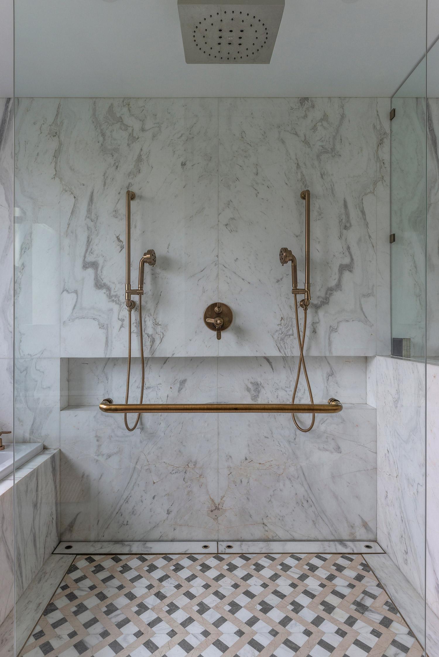 Master Bedroom Double brass shower