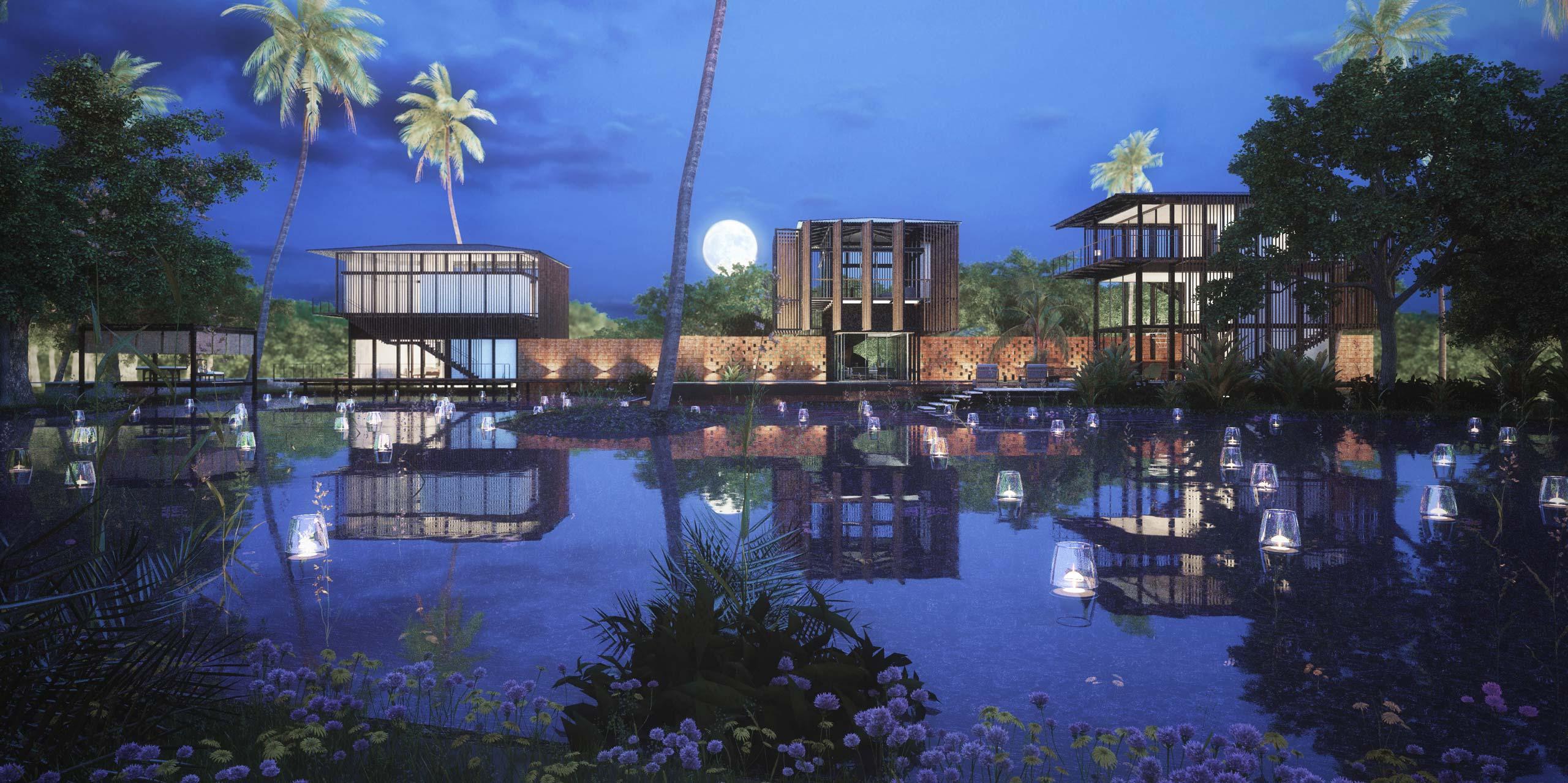 night view of Waikiki Wetland Resort