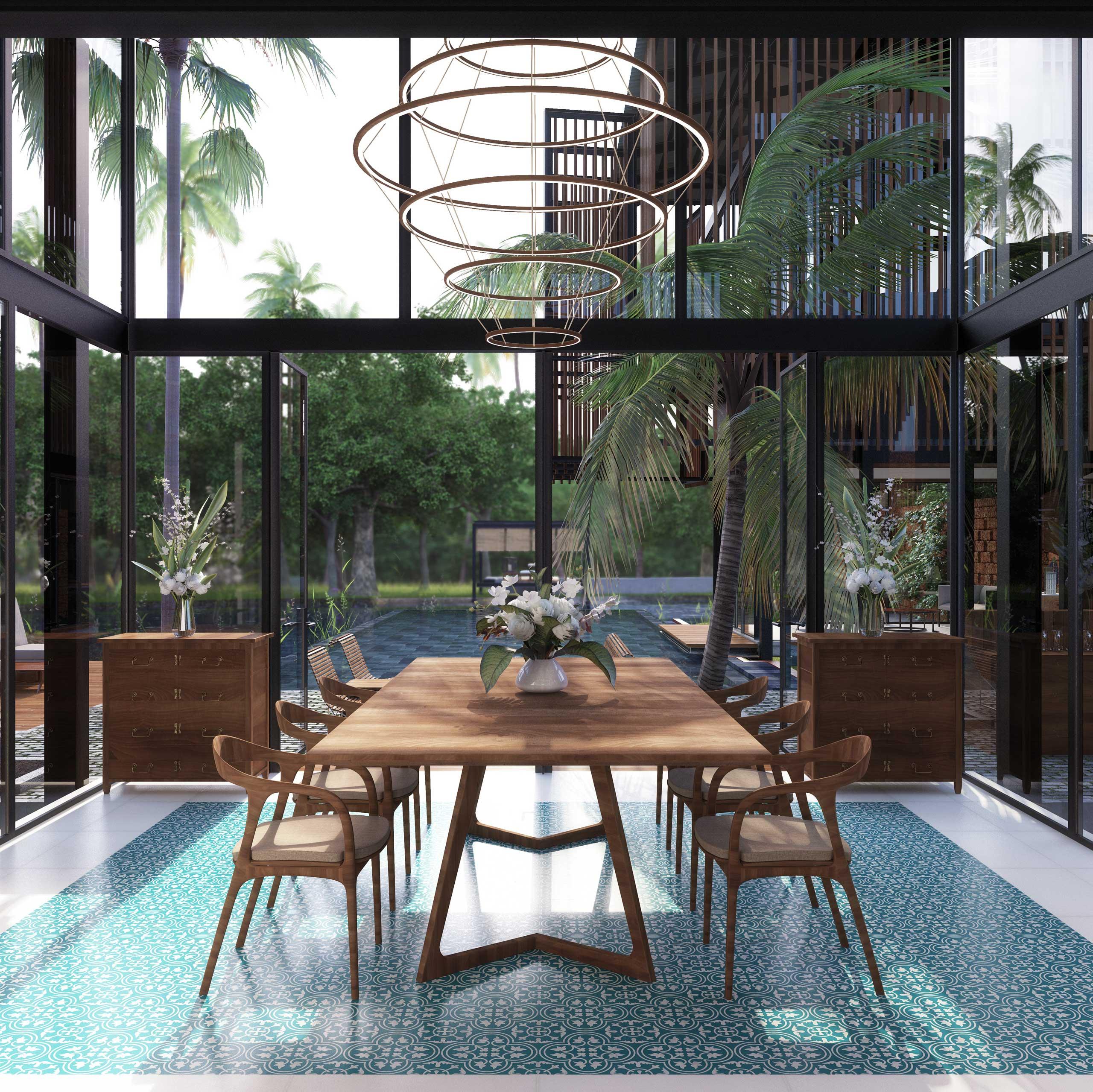 double height dining room Waikiki Wetland Resort