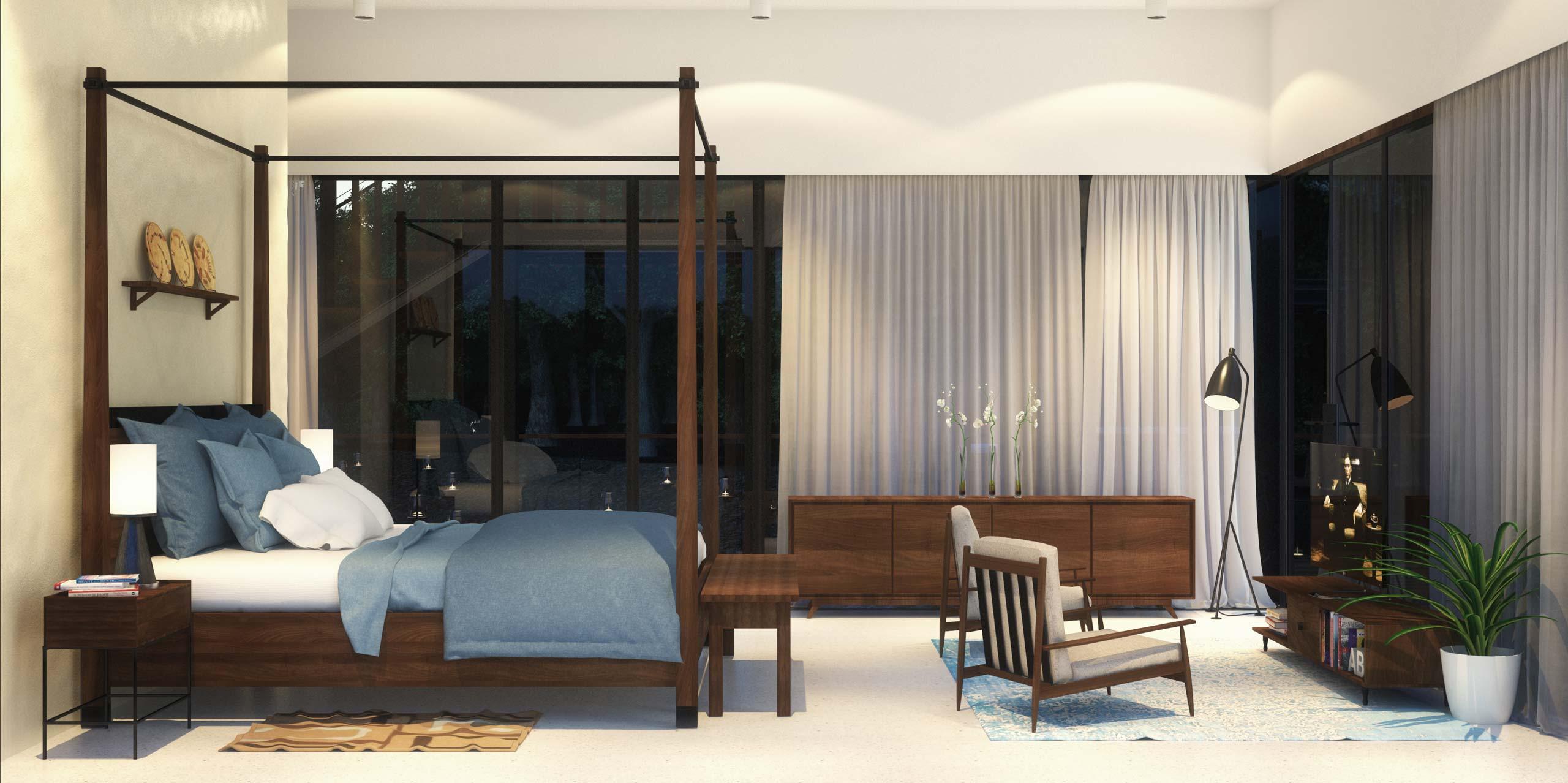 Master Bedroom Waikiki Wetland Resort